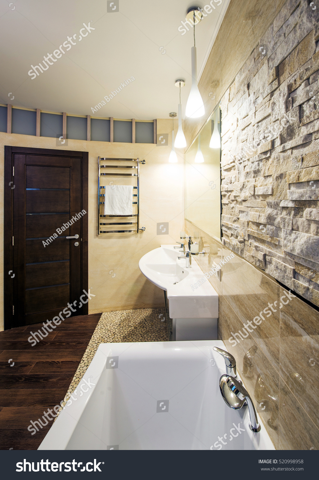 Modern Spacious Bathroom Suite Designed Luxury Stock Photo 520998958 Shutterstock