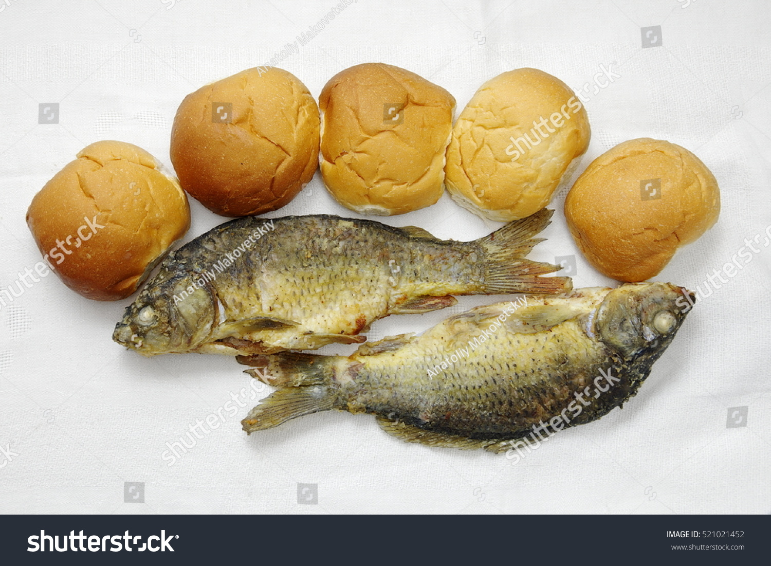 Five loaves two fishes stock photo 521021452 shutterstock for Five loaves two fish