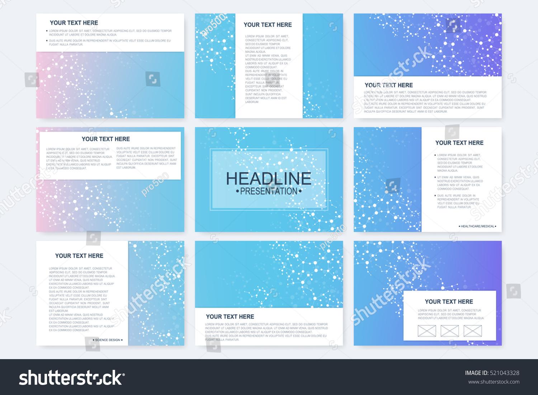 big set vector templates presentation slides stock vector royalty