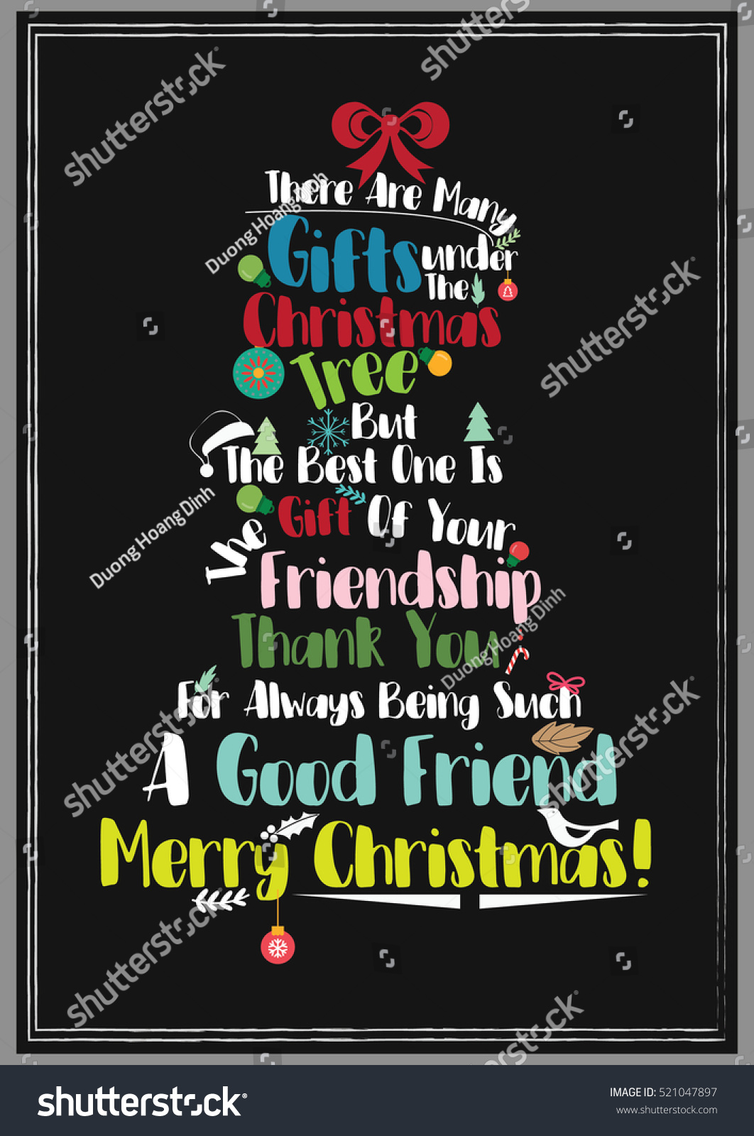 Christmas Quote Friendship Quote There Many Stock Vector (Royalty ...