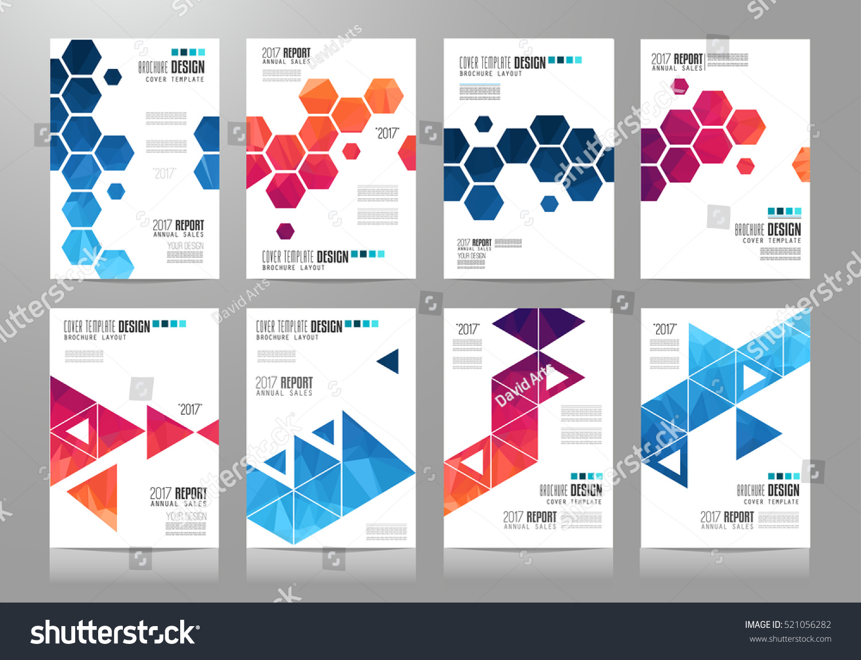 Set Brochure Templates Flyer Designs Depliant Stock Illustration