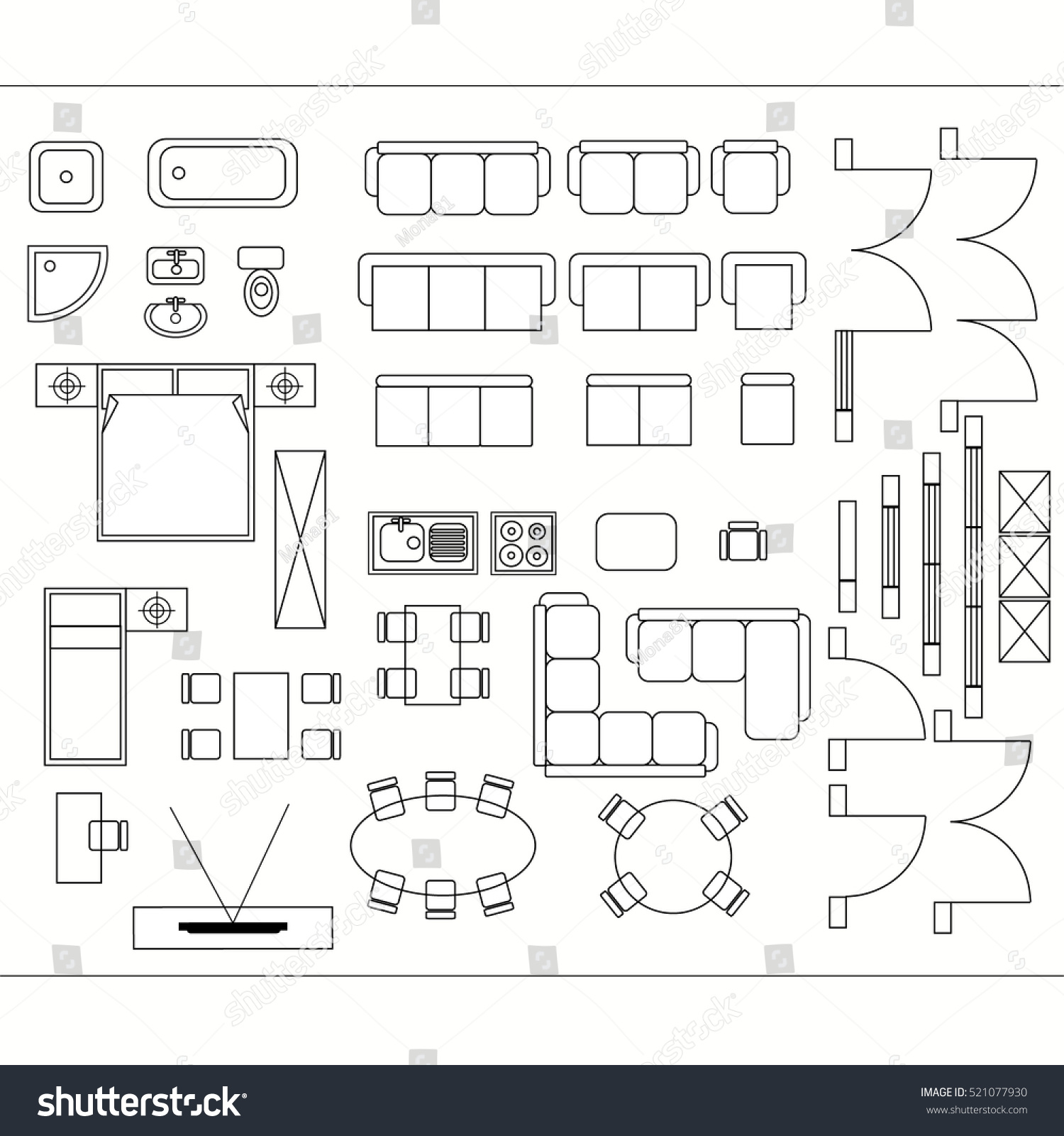 royalty free architectural drawing for planning 521077930 stock photo. Black Bedroom Furniture Sets. Home Design Ideas