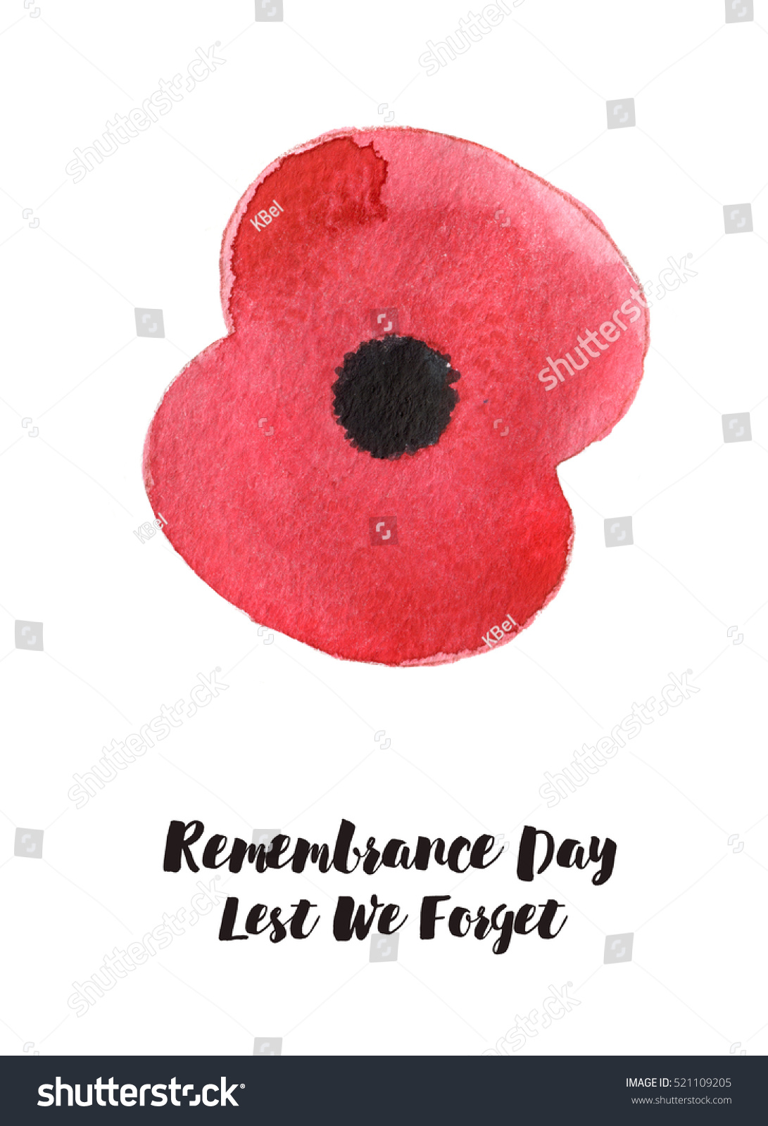 Watercolor illustration poppy flower remembrance day stock watercolor illustration of poppy flower remembrance day symbol banner design buycottarizona