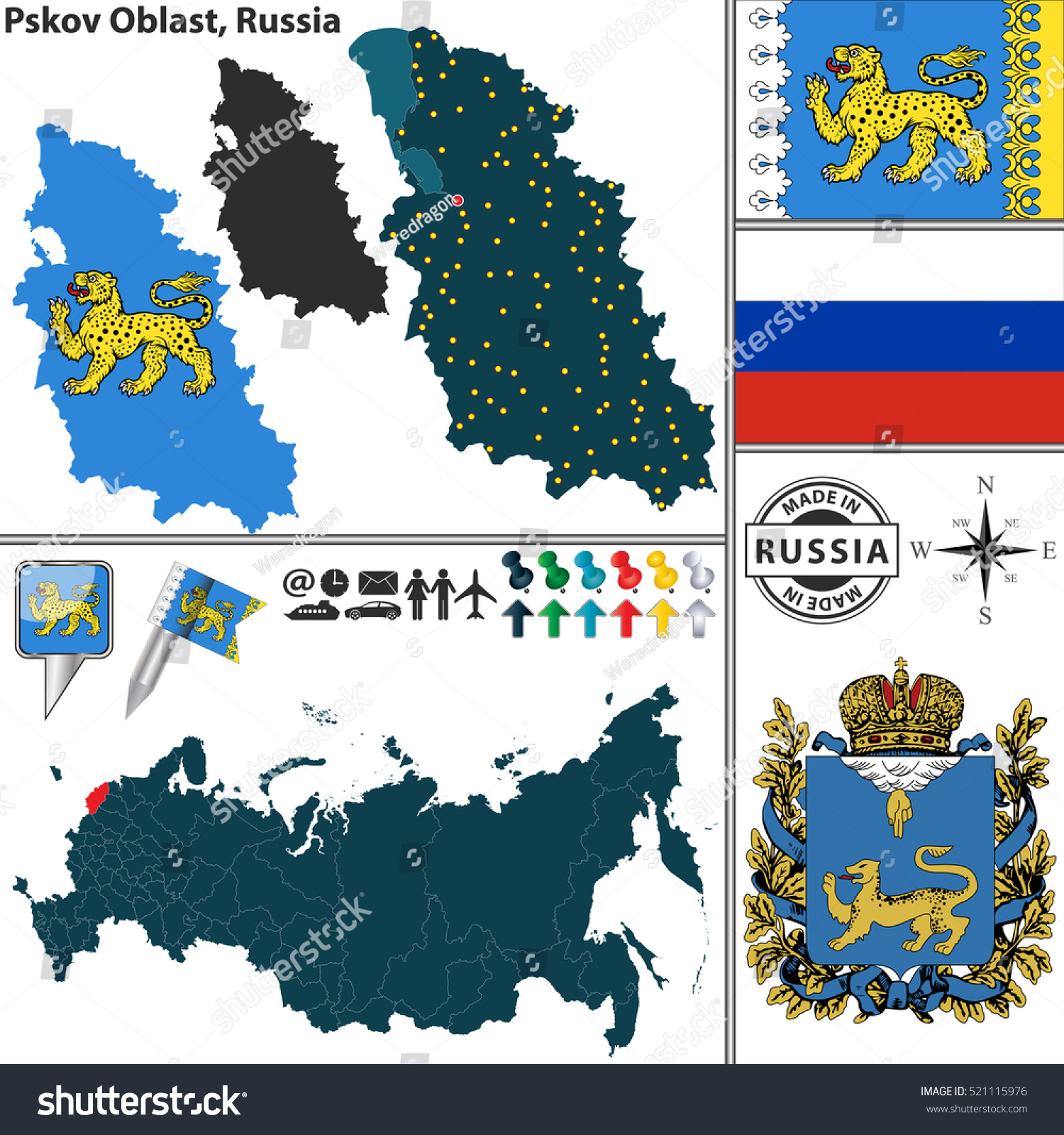 Flag and coat of arms of Pskov: history, description and interesting facts 17