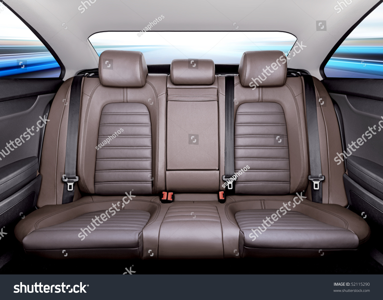 back passenger seats modern sport car stock photo 52115290 shutterstock. Black Bedroom Furniture Sets. Home Design Ideas