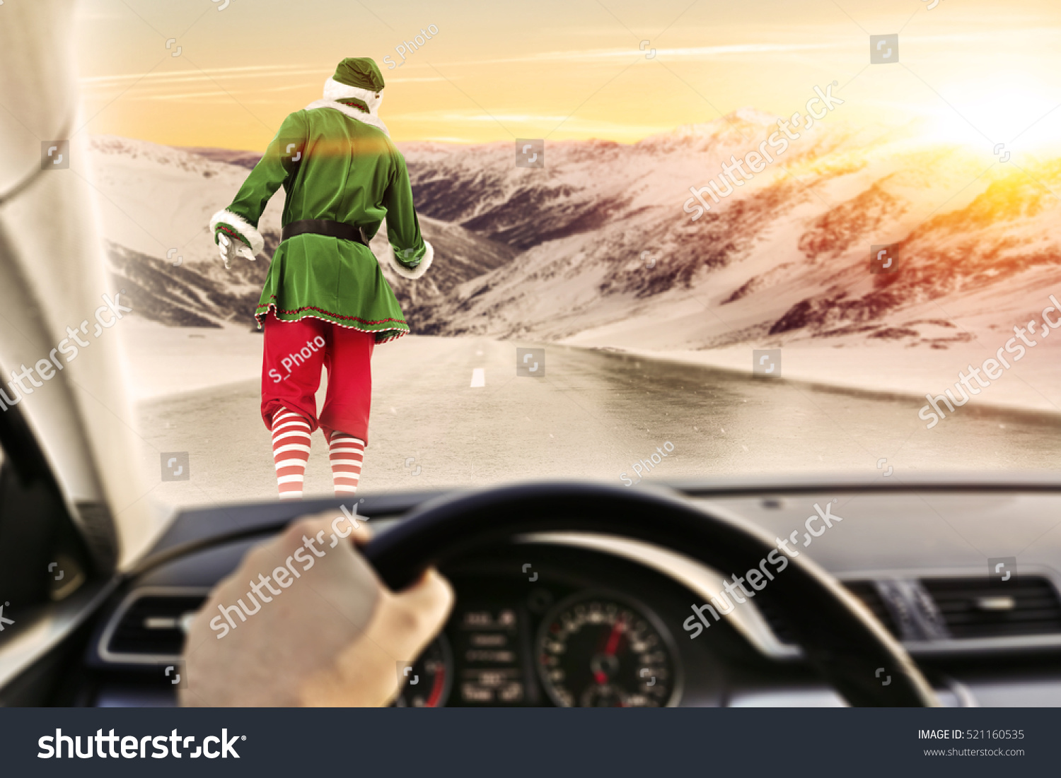 fast driver car interior on winter stock photo 521160535 shutterstock. Black Bedroom Furniture Sets. Home Design Ideas