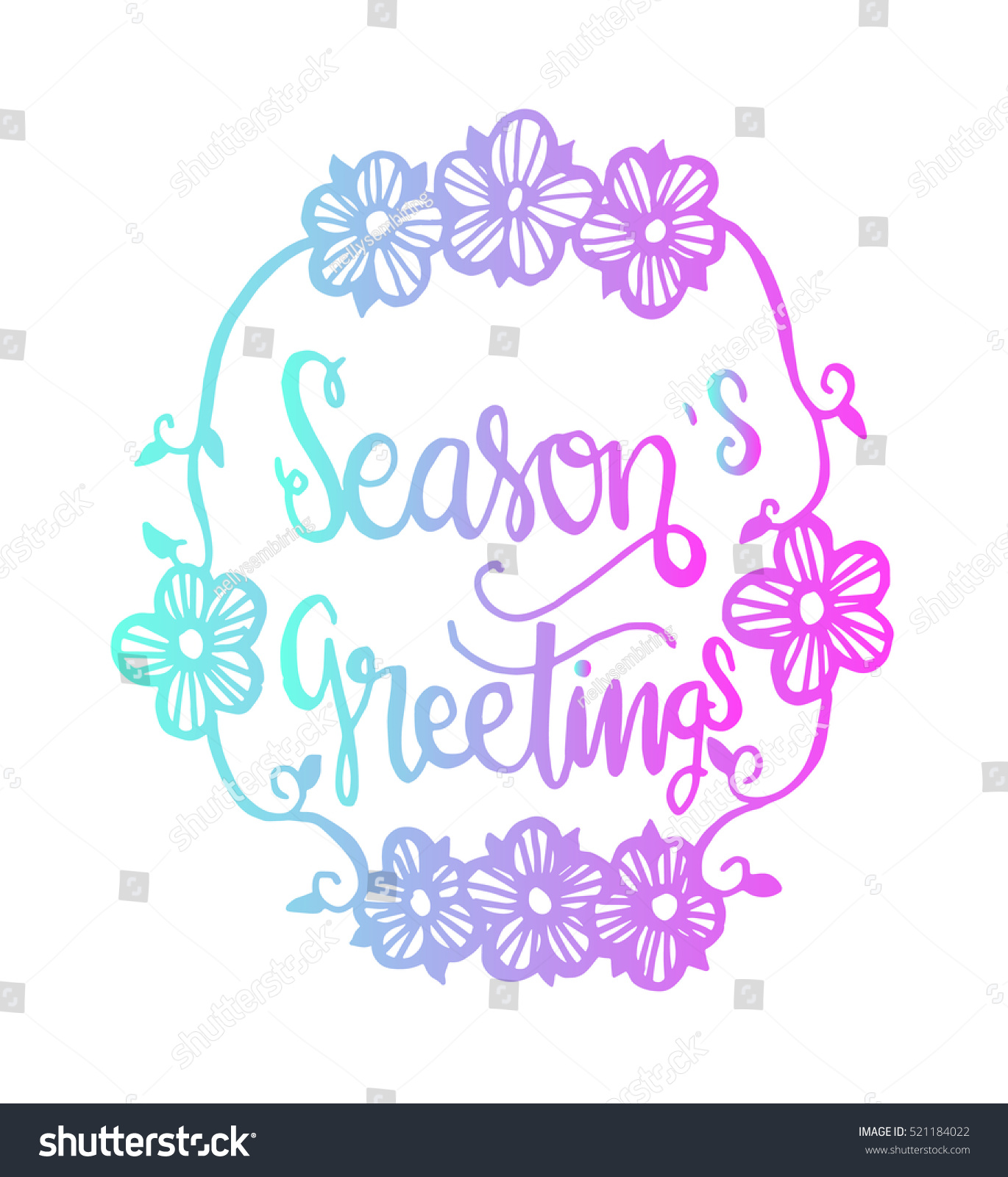 Seasons Greetings Hand Lettered Quote Bible Stock Vector 521184022