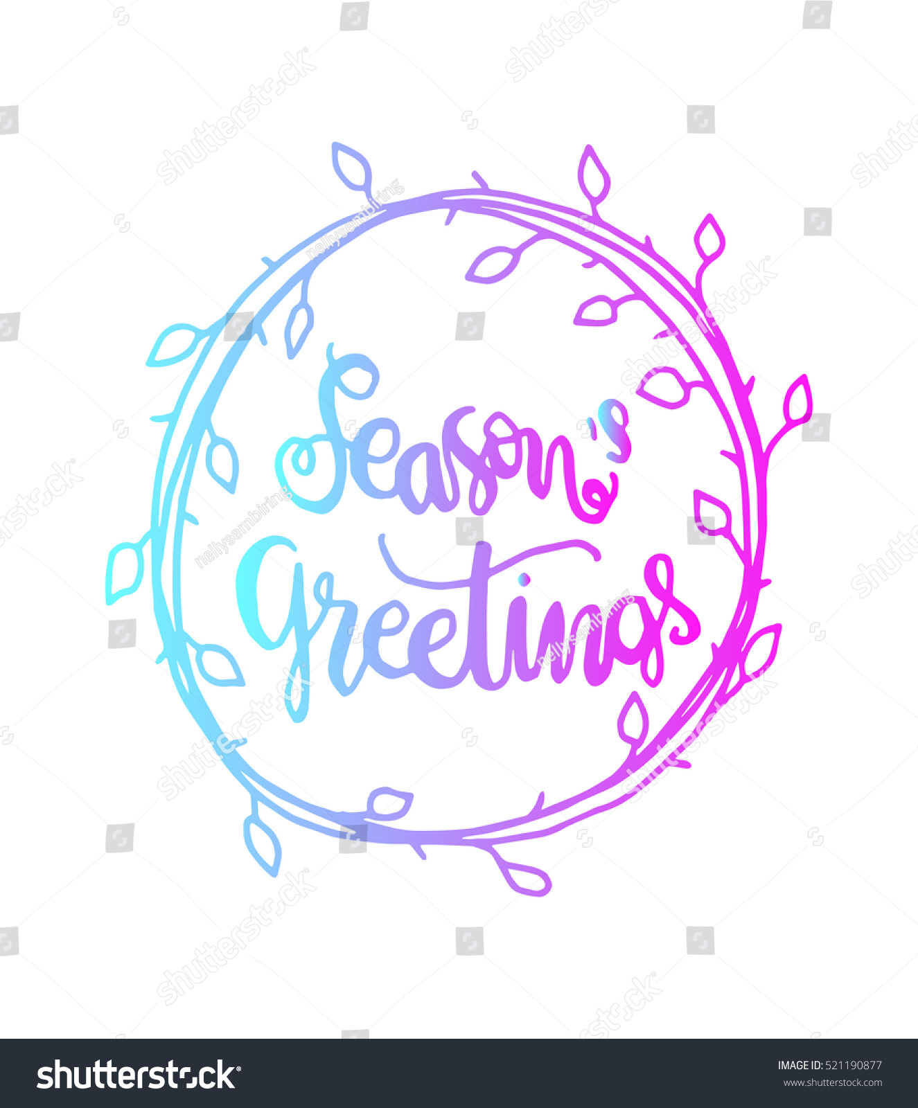 Seasons greetings hand lettered quote bible stock vector 521190877 seasons greetings hand lettered quote bible verse modern calligraphy kristyandbryce Gallery