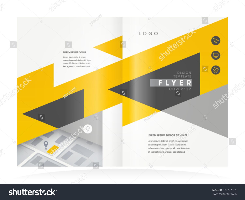 Brochure Design Business Booklet Template Creative Stock Vector - Brochure booklet templates