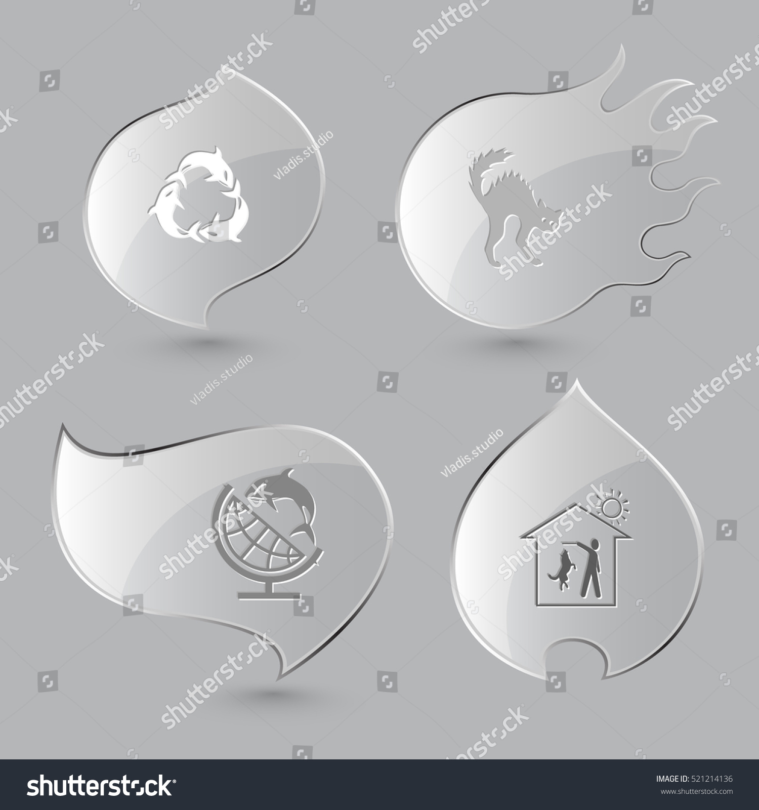 4 images killer whale recycling symbol stock vector 521214136 4 images killer whale as recycling symbol cat globe and shamoo home biocorpaavc Choice Image