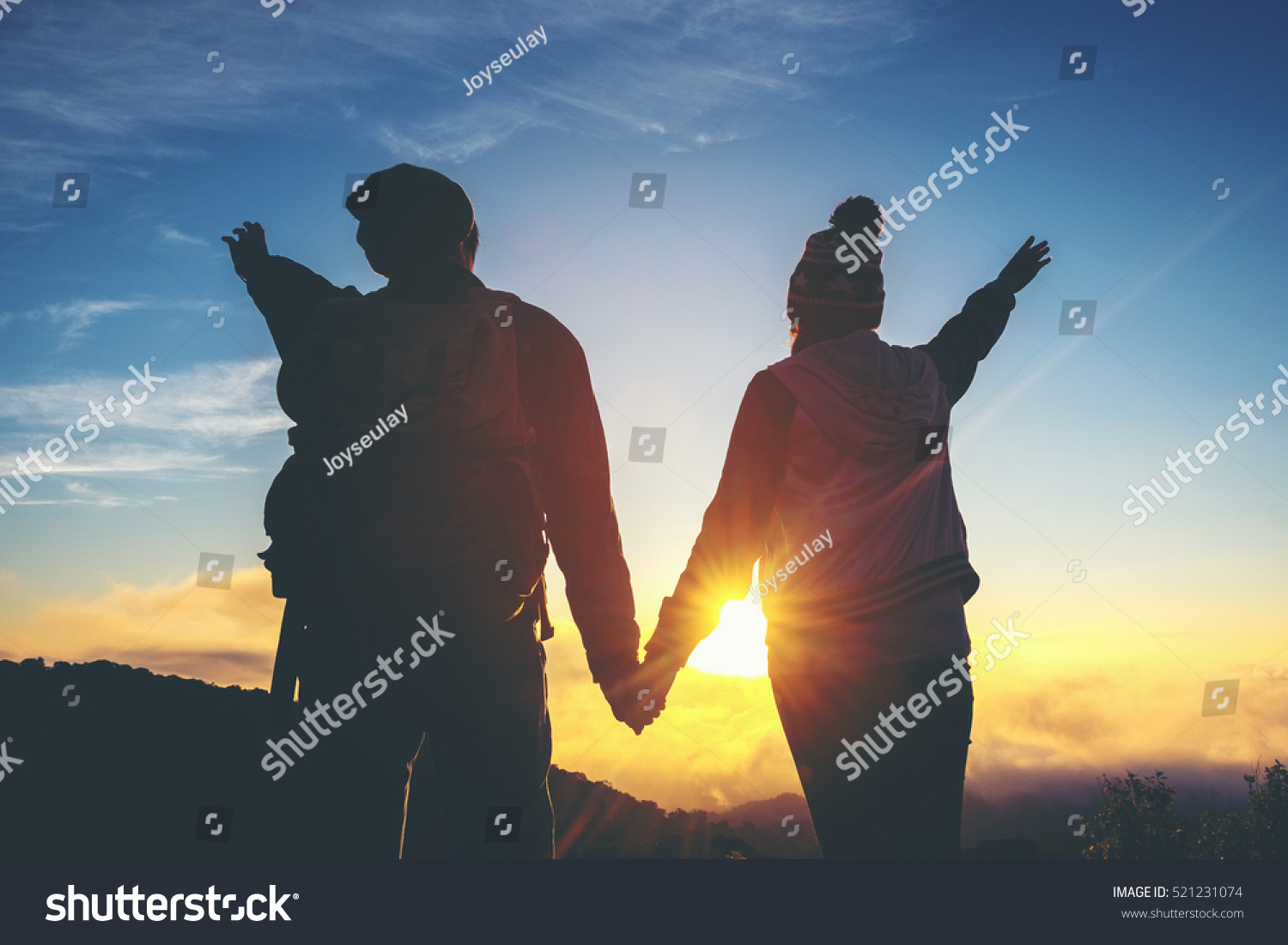 Silhouette Couple Holding Hands Sunset Romantic Stock Photo ... for Couple Holding Hands Silhouette Sunset  150ifm