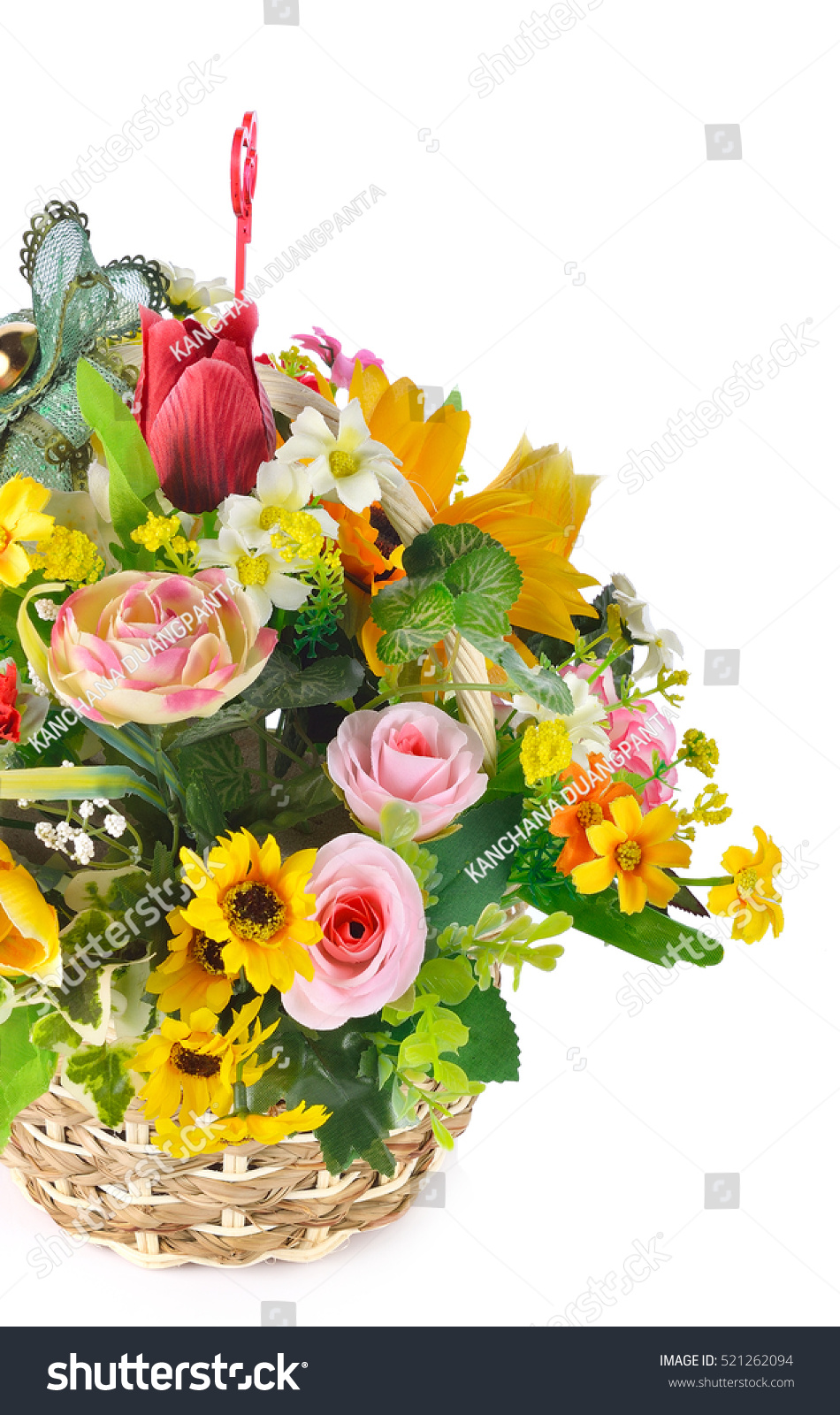 Plastic floral bouquet different flowers on stock photo royalty plastic floral bouquet of different flowers on white background izmirmasajfo