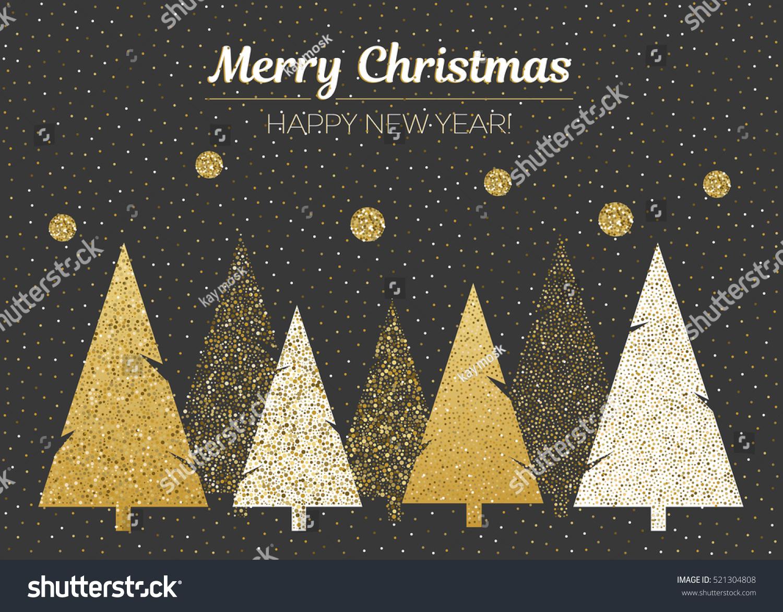 Vector Merry Christmas Happy New Year Stock Vector