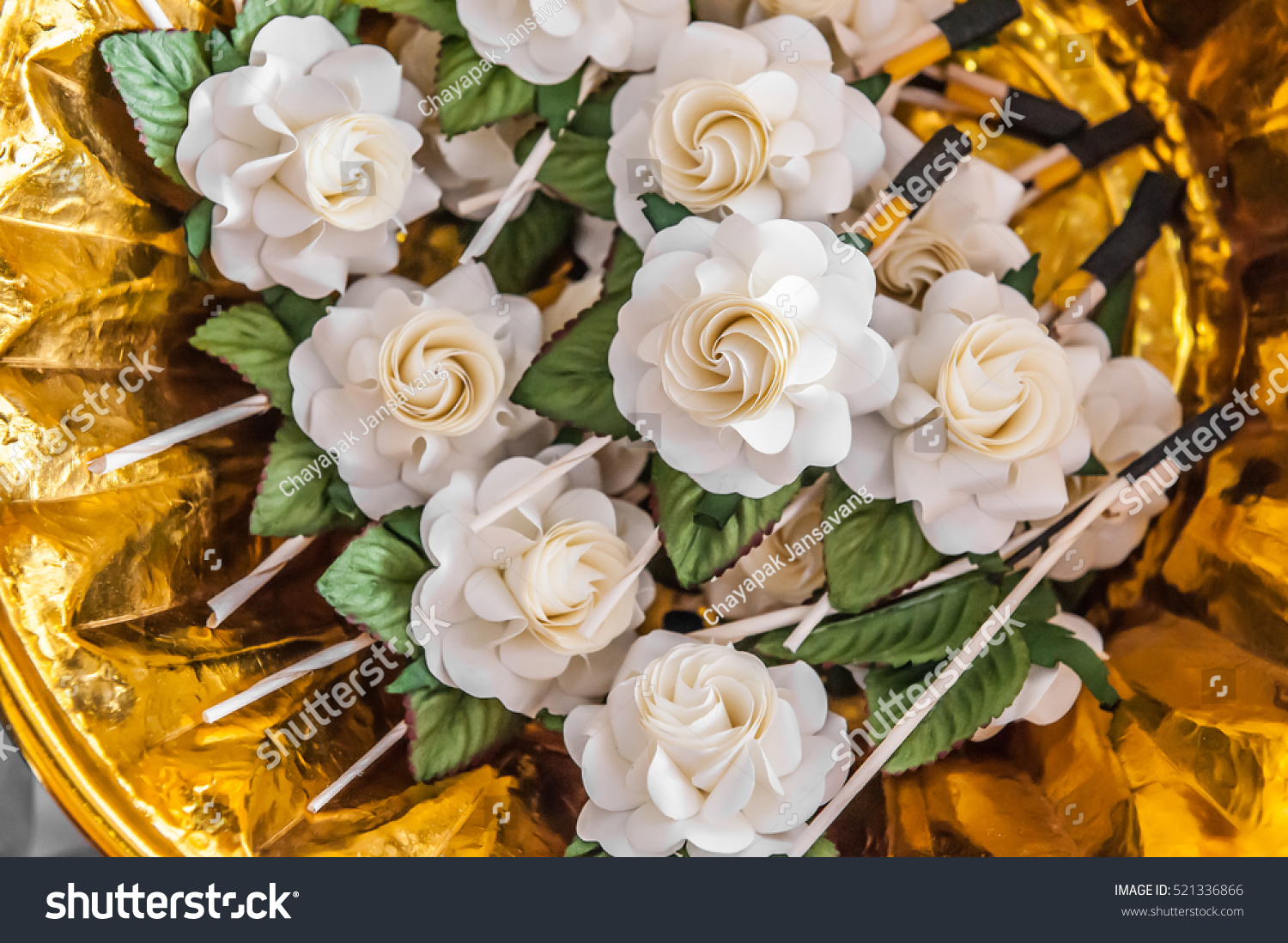 Artifical Flowers Used During Funeral Kind Stock Photo Edit Now
