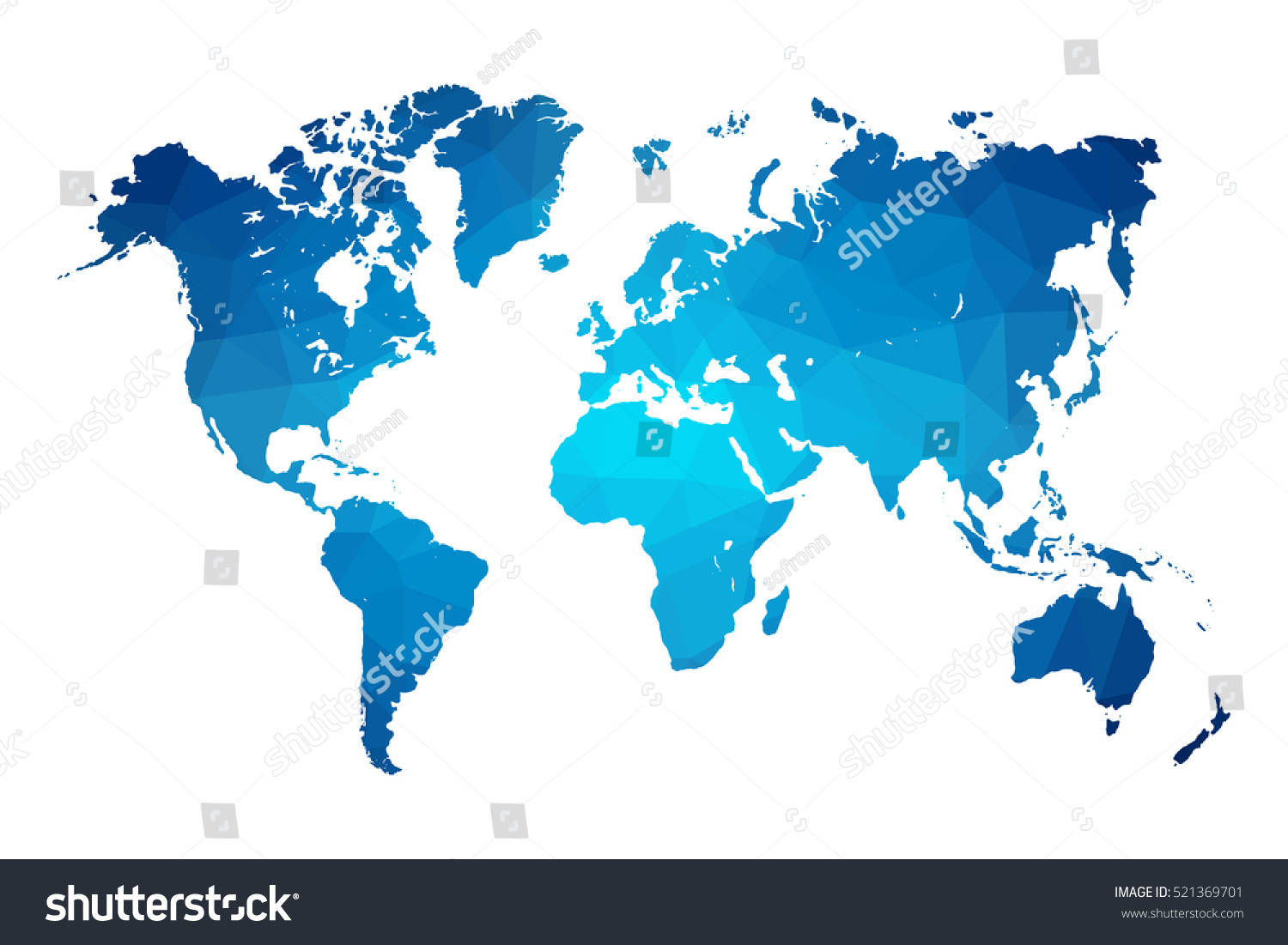 World map blue vector illustration polygonal vectores en stock world map blue vector illustration in polygonal style on white background vector illustration eps 10 gumiabroncs Images