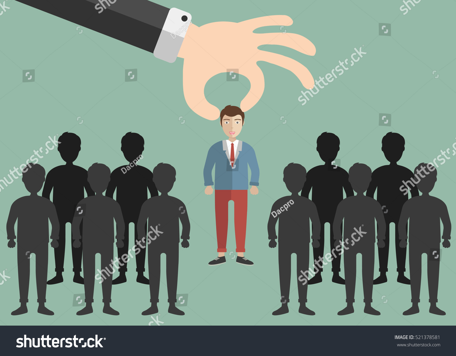 choosing best candidate job concept hand stock vector 521378581 choosing the best candidate for the job concept hand picking up a businessman from the