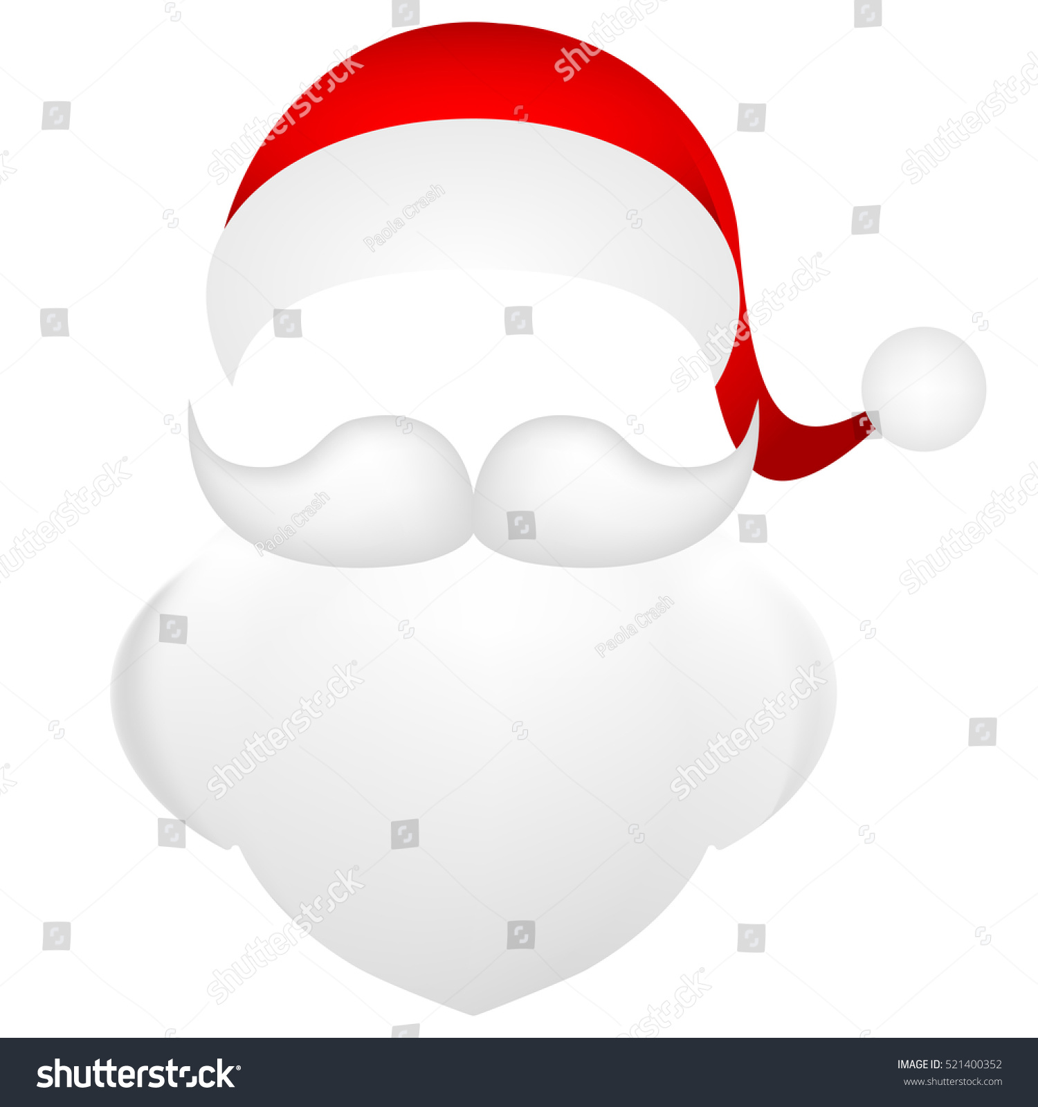 Template Photo Mustache Beard Cap Santa Stock Vector (Royalty Free ...