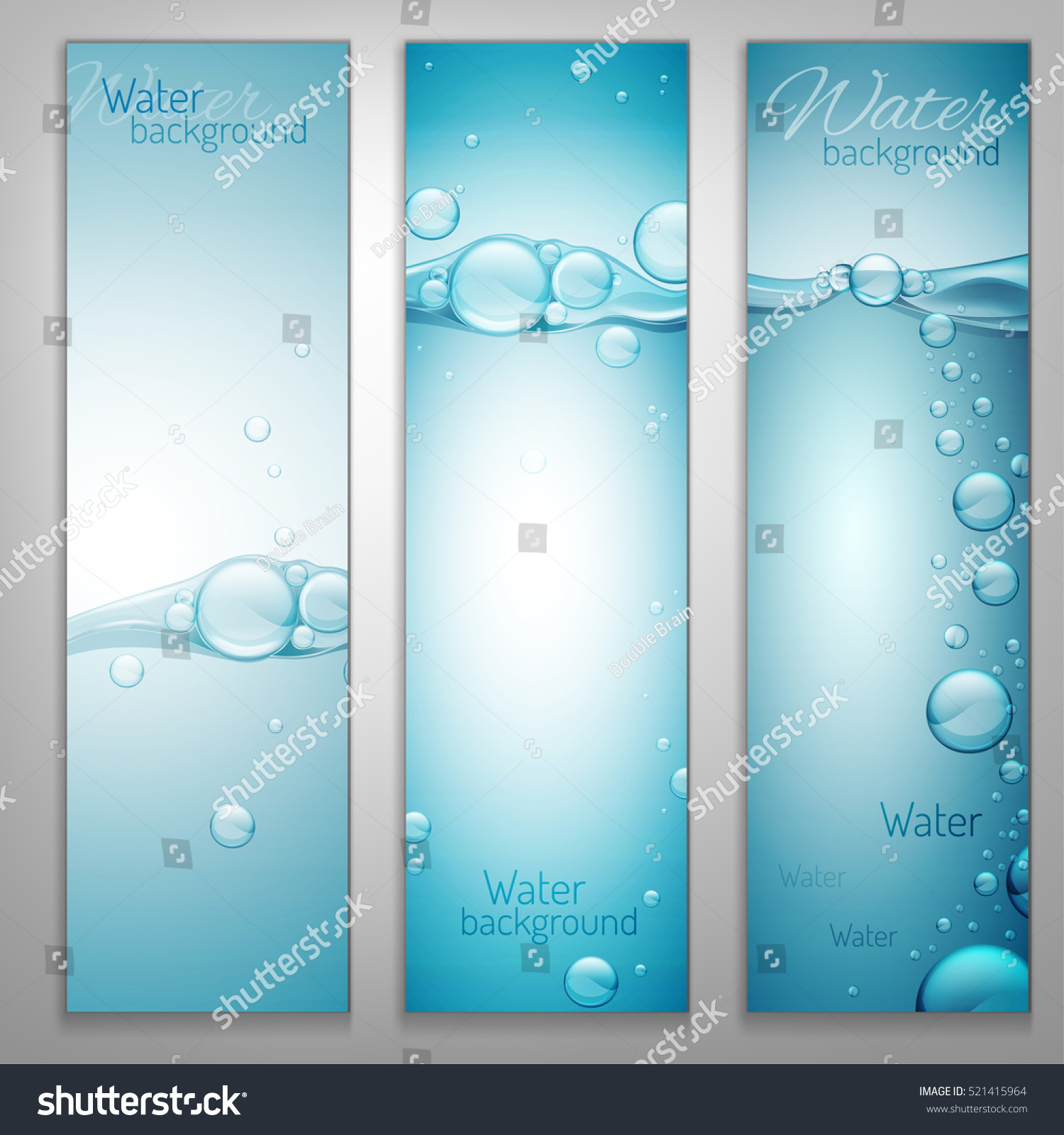 Transparent Water Wave Image Bubbles Vector Stock Vector 521415964 ...