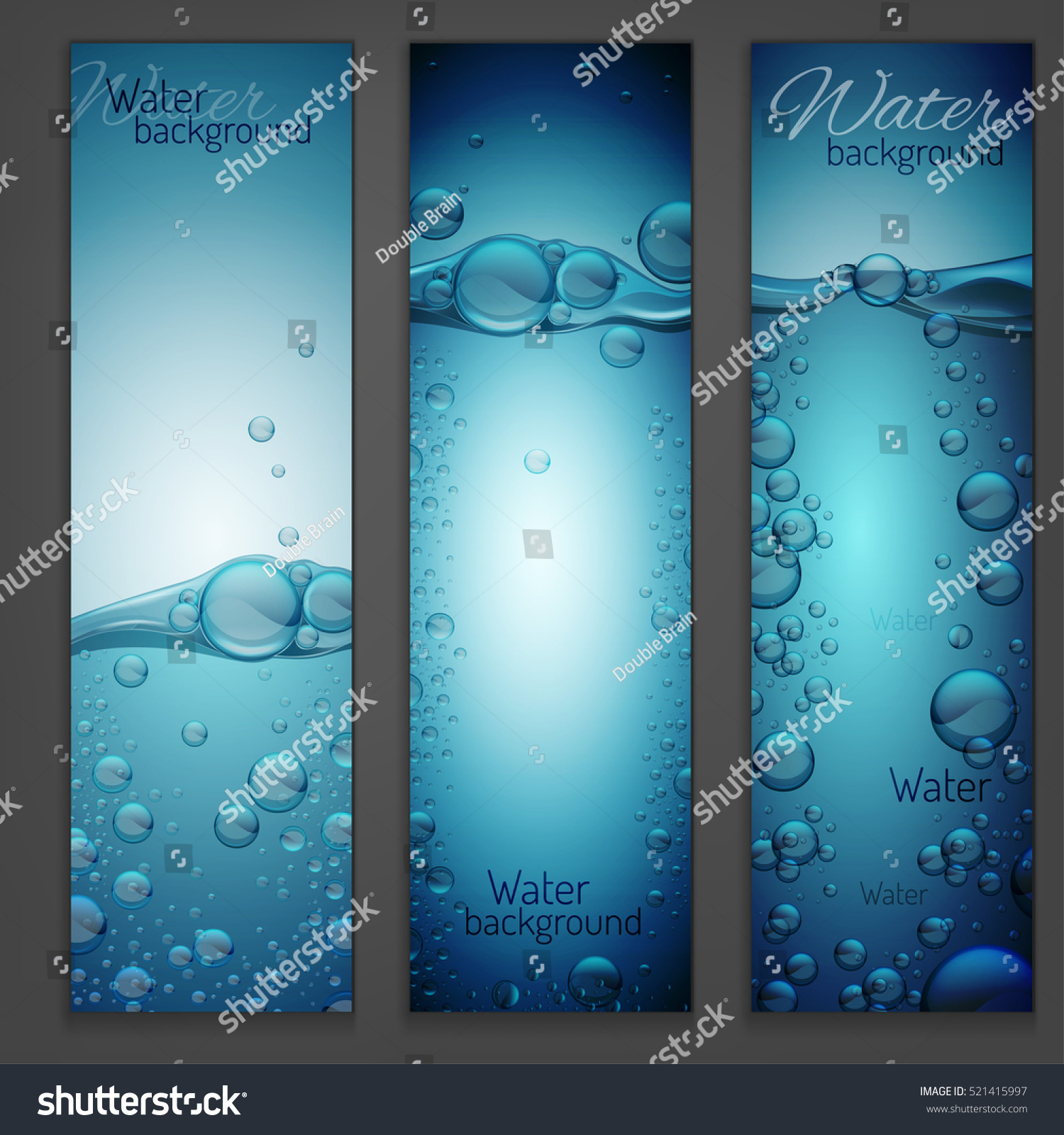 Transparent Water Wave Image Bubbles Vector Stock Vector 521415997 ...