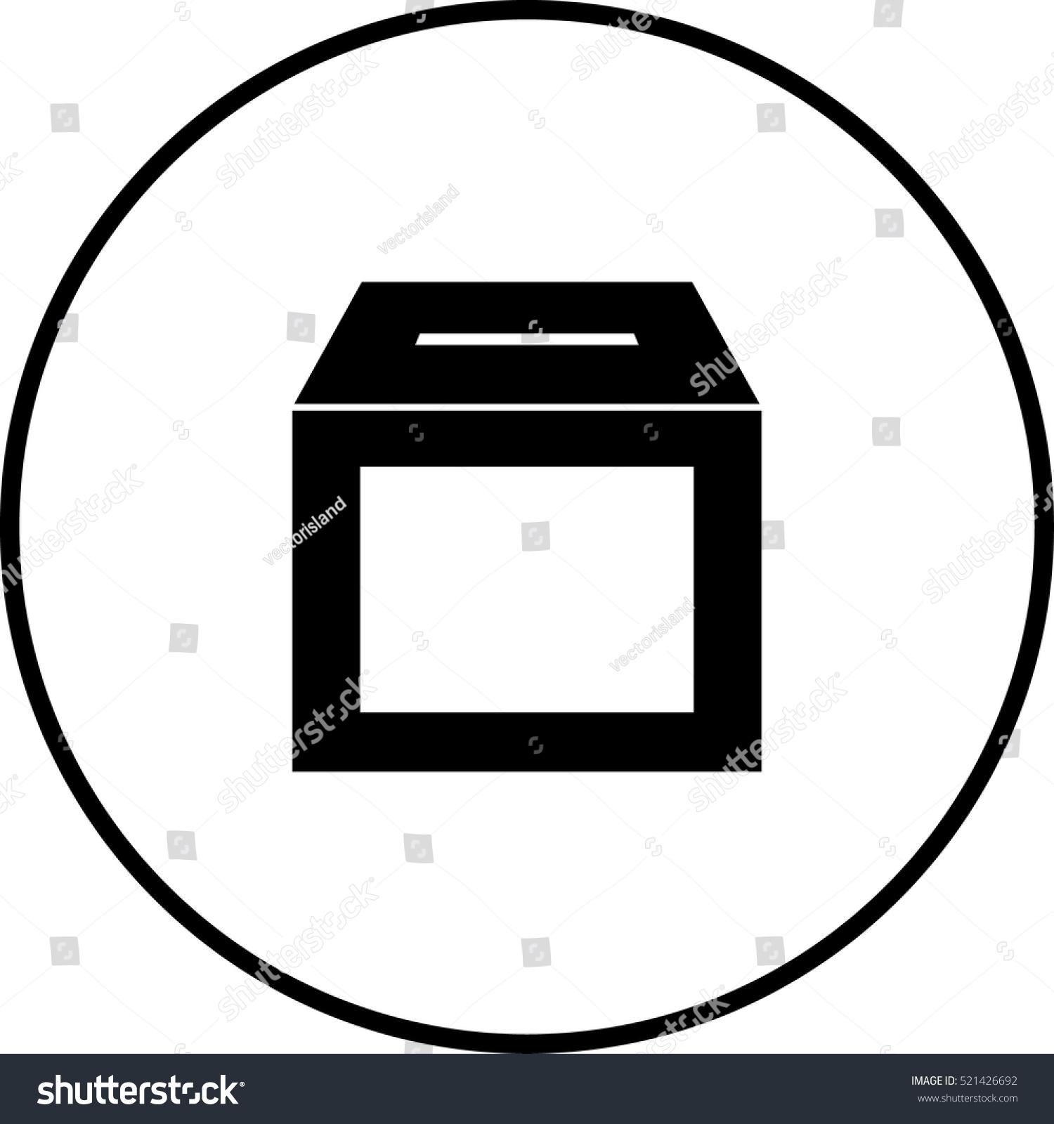 Empty ballot box symbol stock vector 521426692 shutterstock empty ballot box symbol buycottarizona Gallery