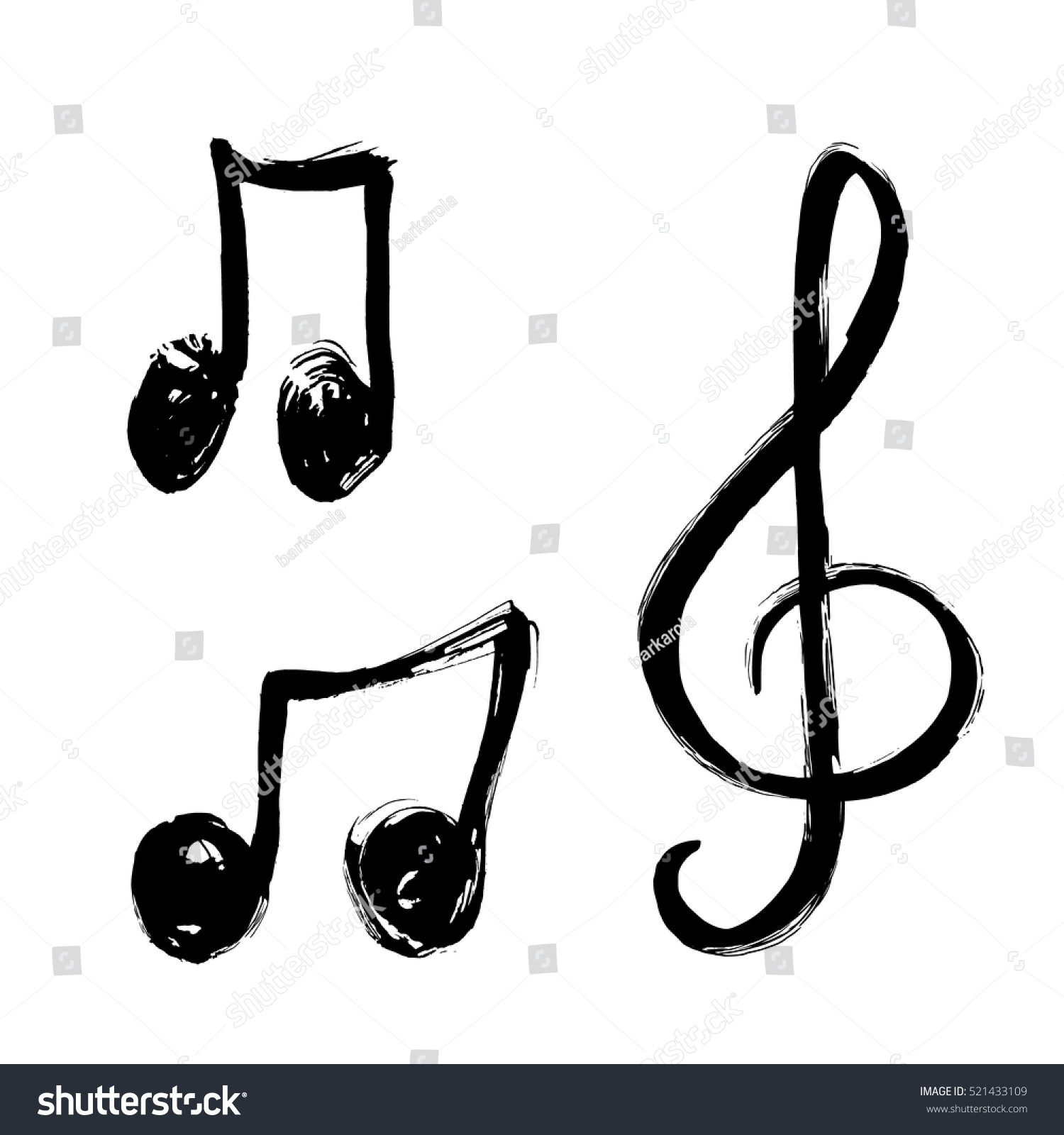 hand stock vector hd royalty free 521433109 shutterstock rh shutterstock com White Music Note Vector Music Notes