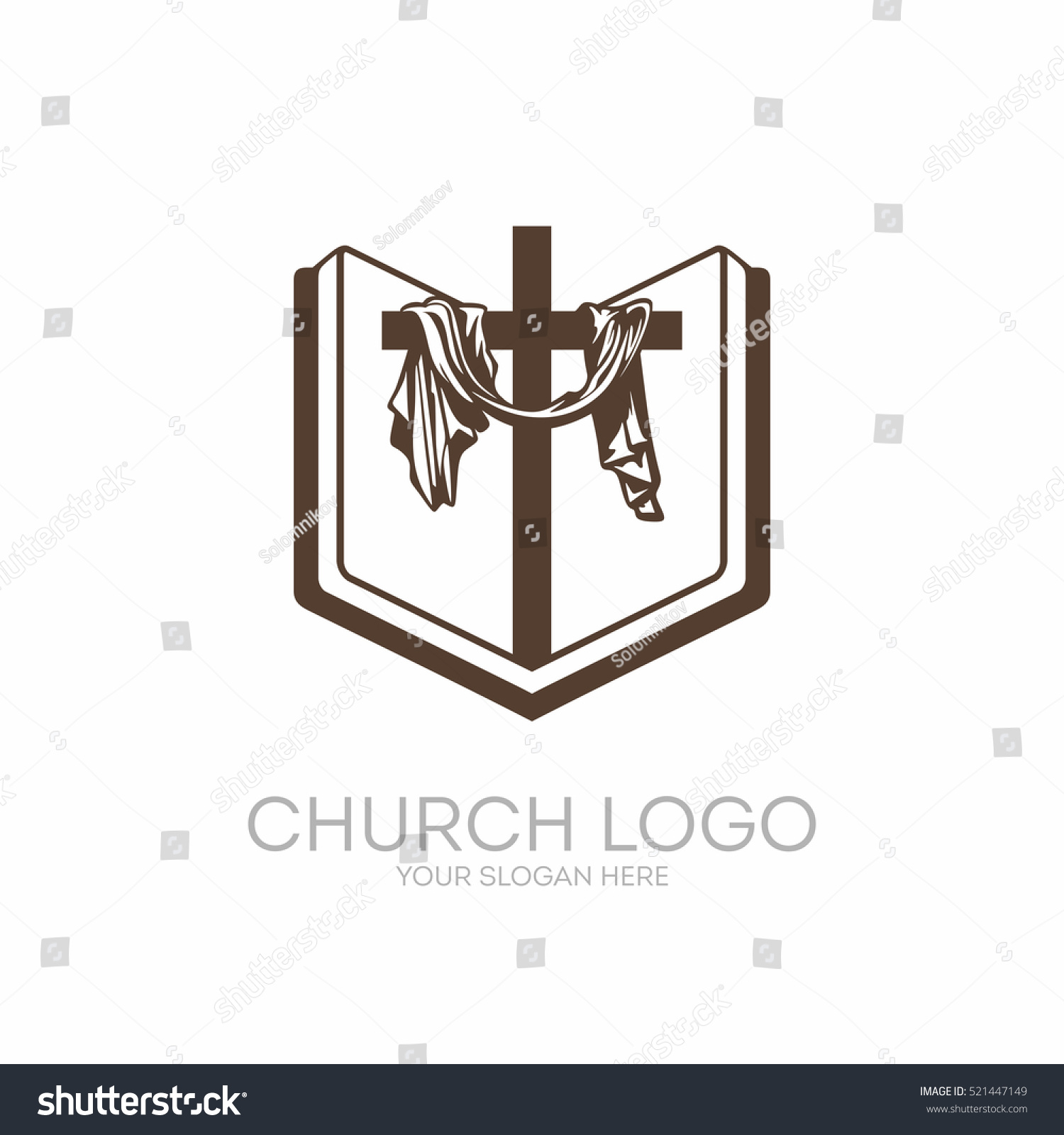 Church logo christian symbols bible holy stock vector 521447149 church logo christian symbols bible holy scripture the cross of jesus christ buycottarizona Image collections