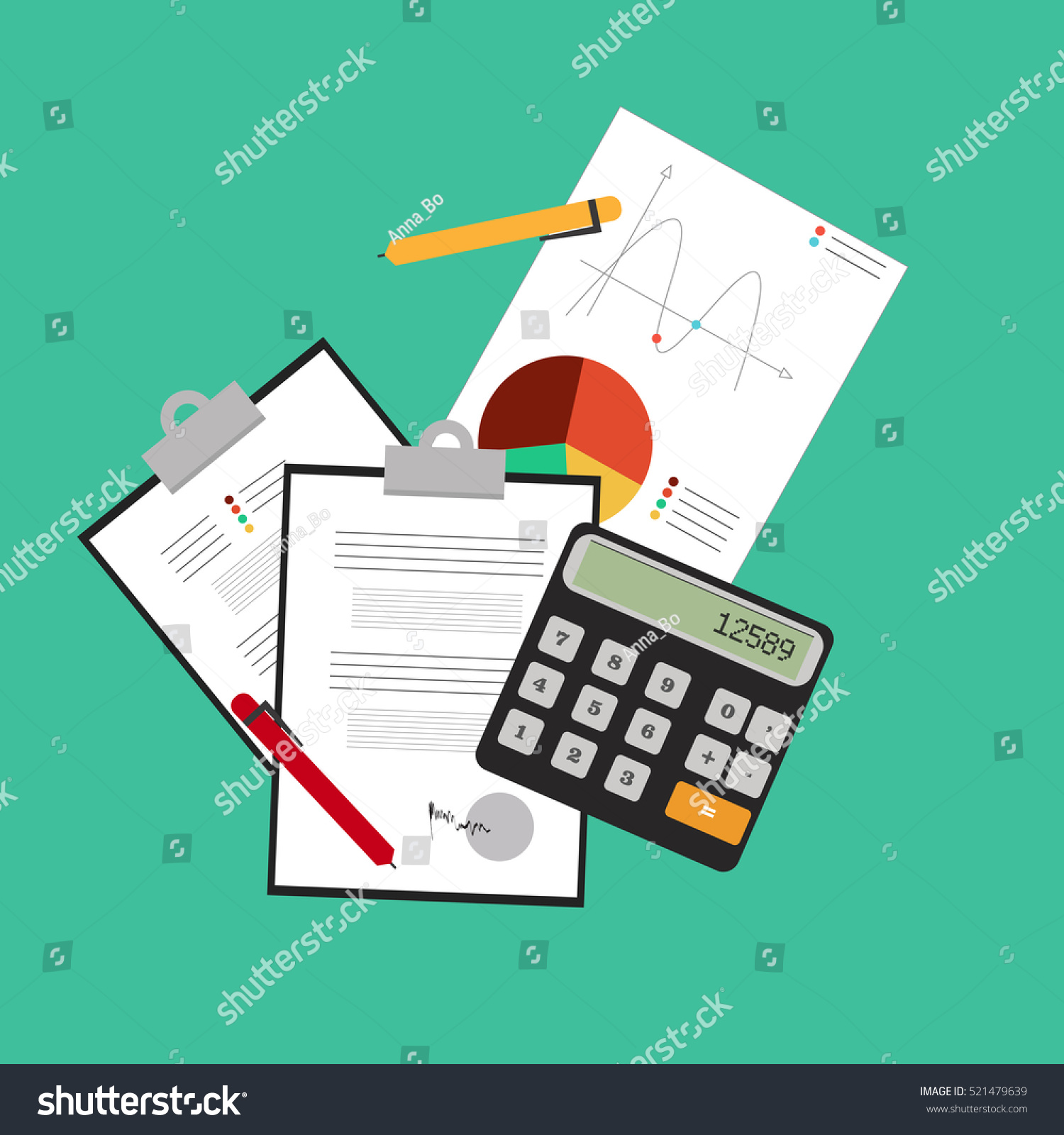 investing personal finance credit budgeting cashflow stock vector