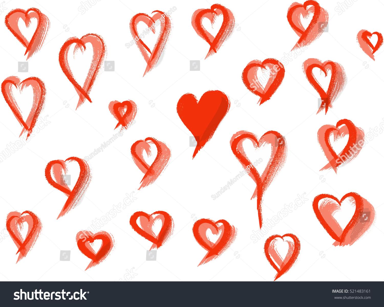 Heart Vector Shape Collection Romantic Love Stock Vector 2018