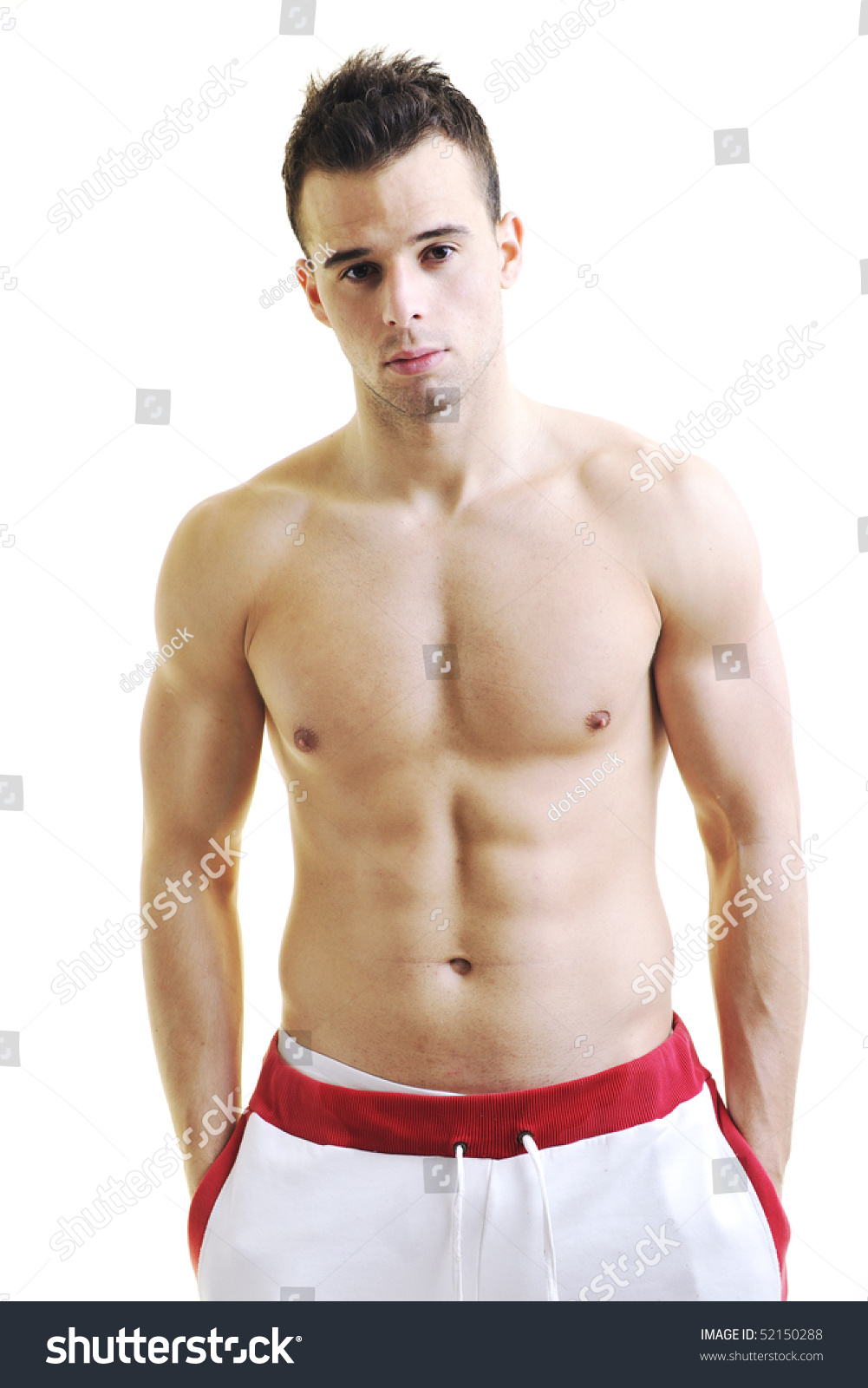 Handsome Young Man Muscles Fit Body Stock Photo (Edit Now) 52150288
