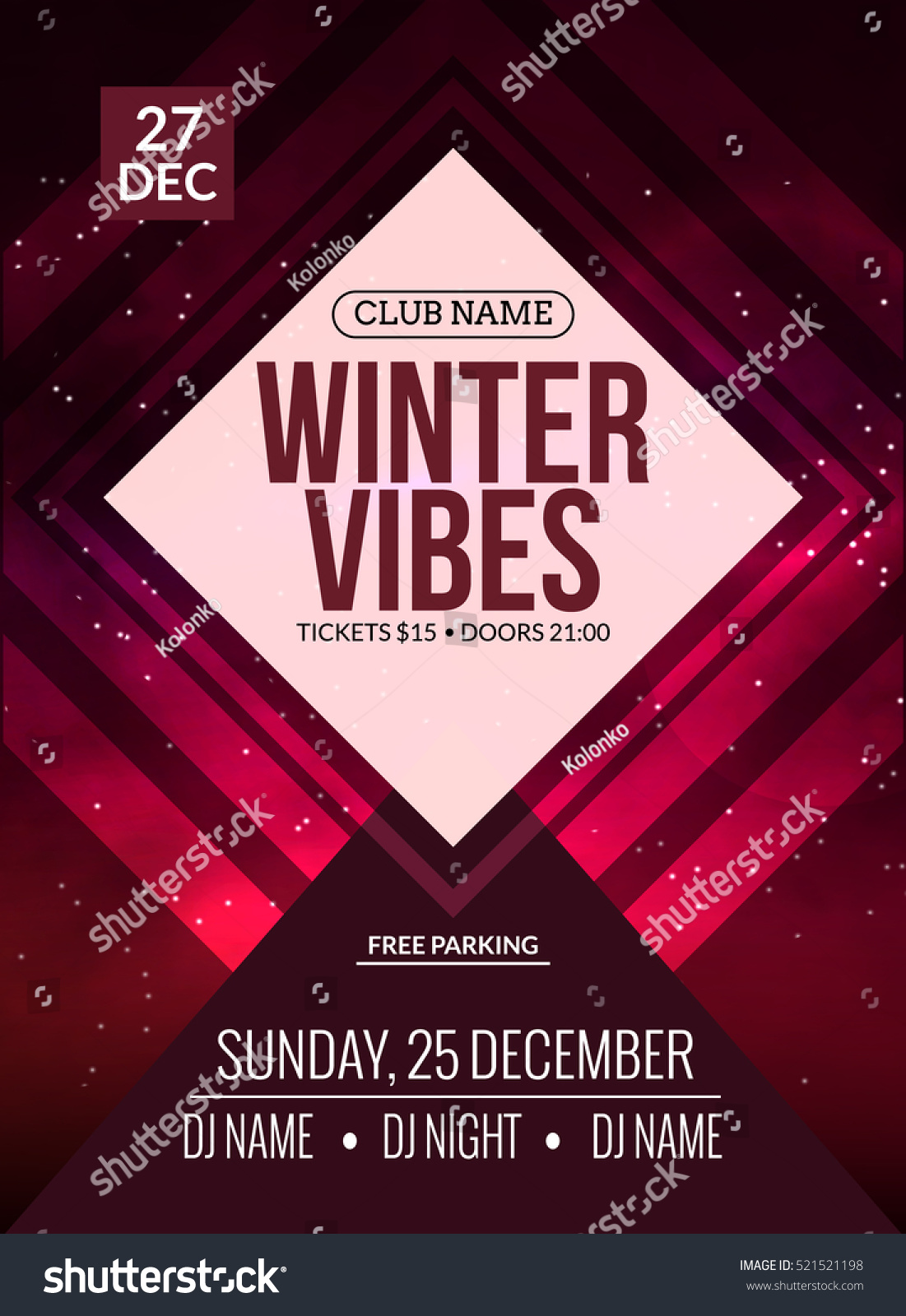 Poster design music - Dance Party Dj Battle Poster Design Winter Disco Party Music Event Flyer Or