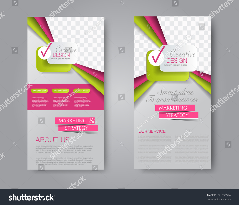 vector flyer leaflet design set two stock vector royalty free