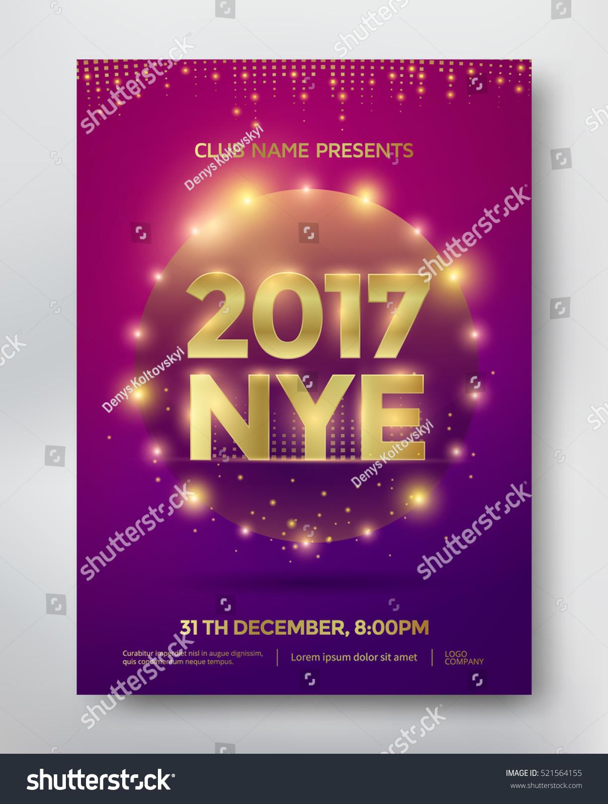 nye new year eve template flyer のベクター画像素材 ロイヤリティ