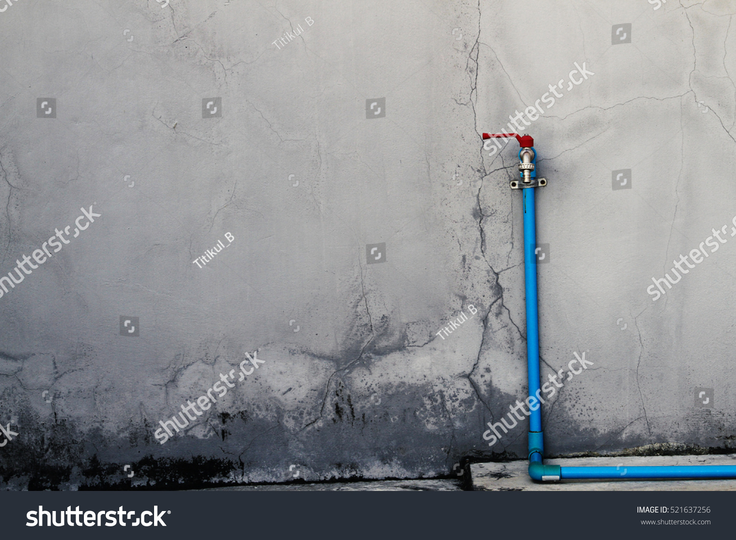 Outdoor water pipe on concrete wall stock photo 521637256 for Best water pipe for outside
