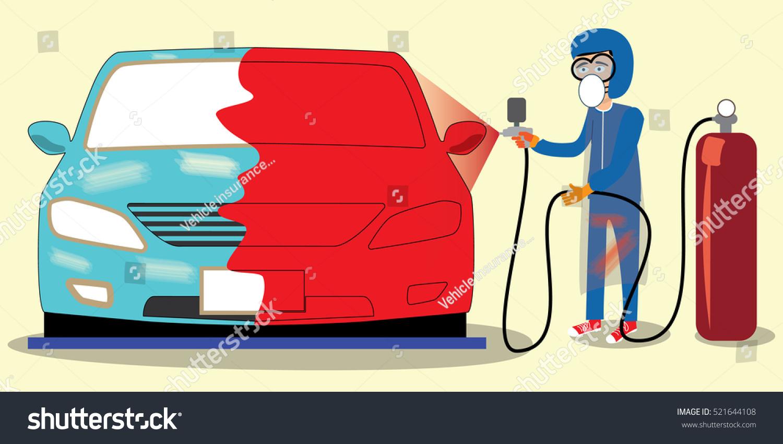 specialist spray painting auto body car stock vector 2018 rh shutterstock com A and B Auto Repair Auto Body Repair Shop