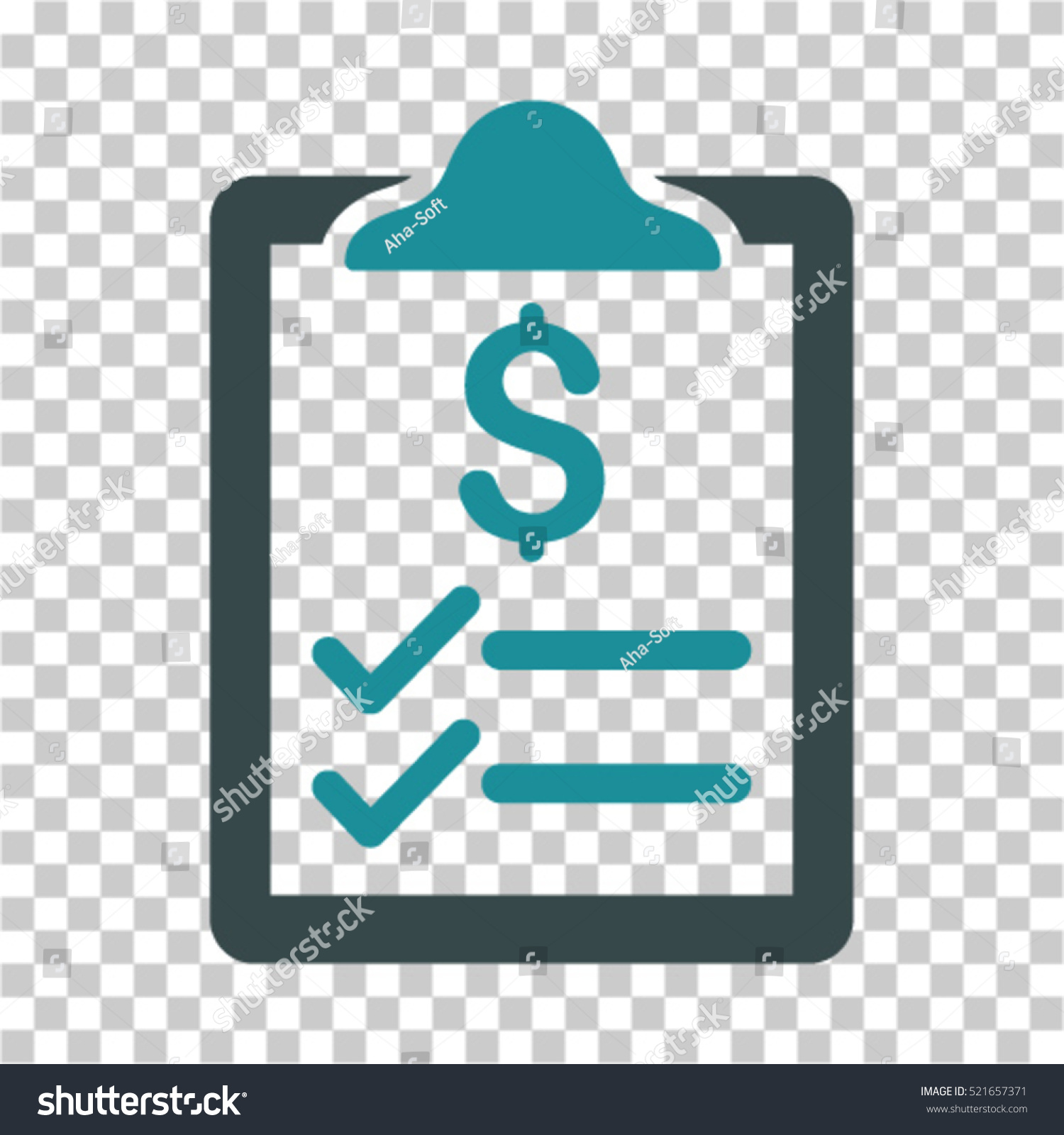 Invoice Pad Icon Vector Pictograph Style Stock Vector