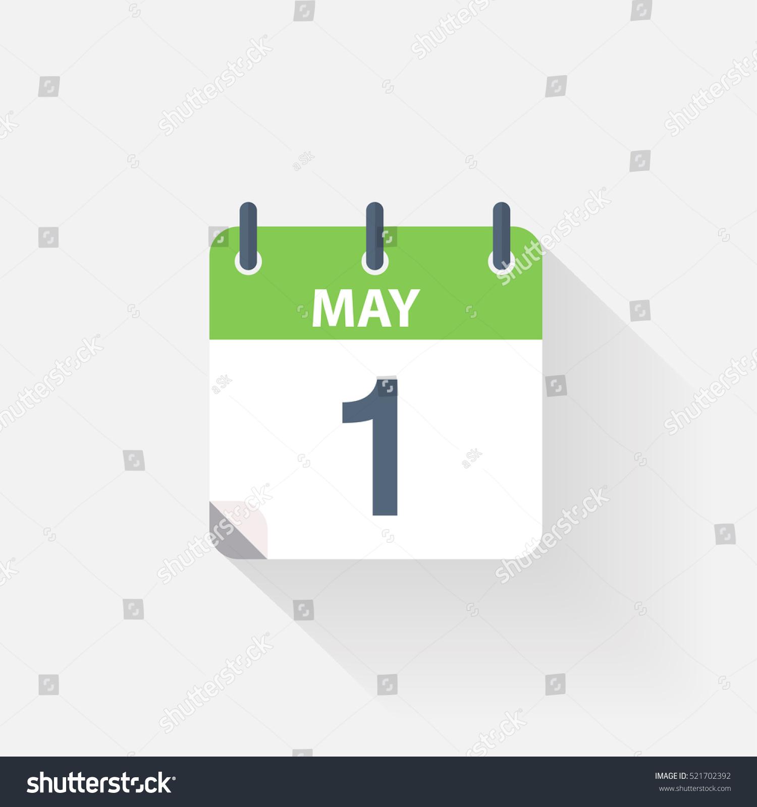 May Calendar Vector : May calendar icon on grey background stock vector