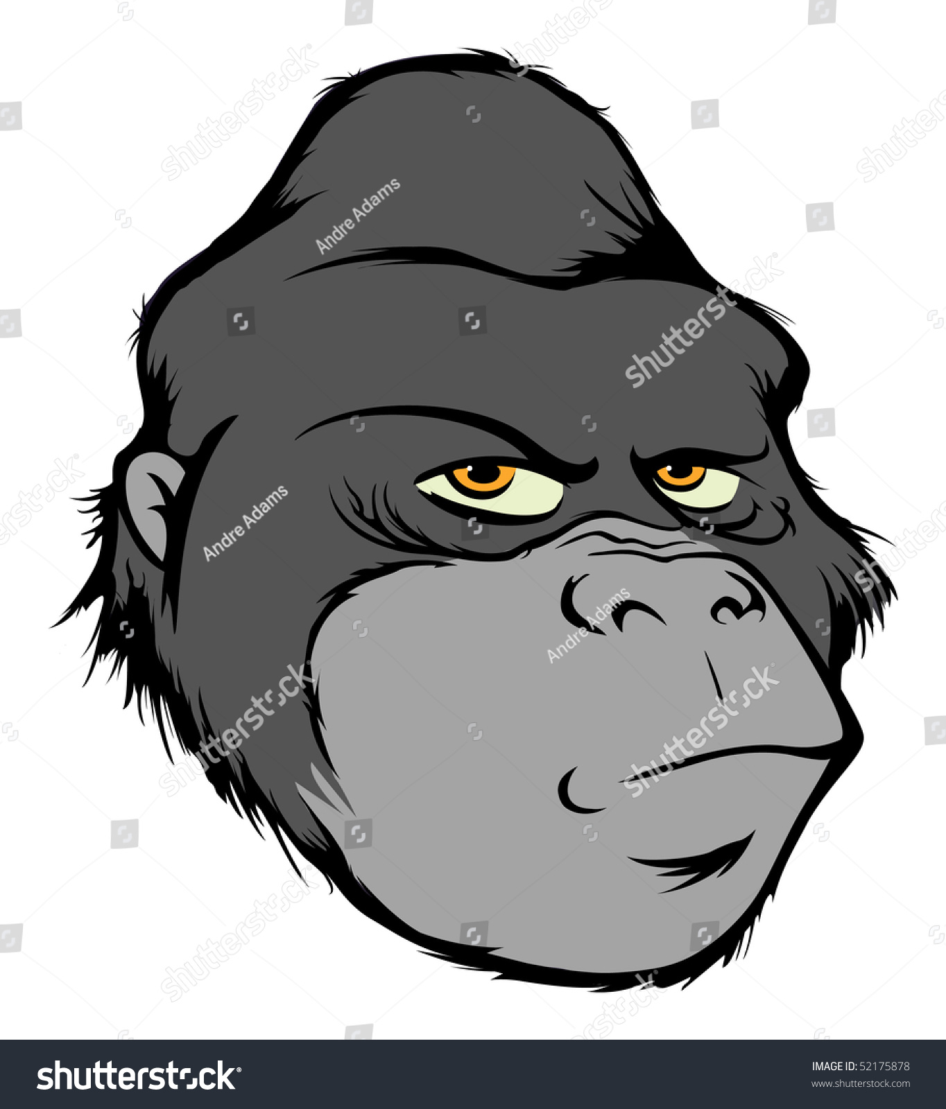 Gorilla vector head - photo#15