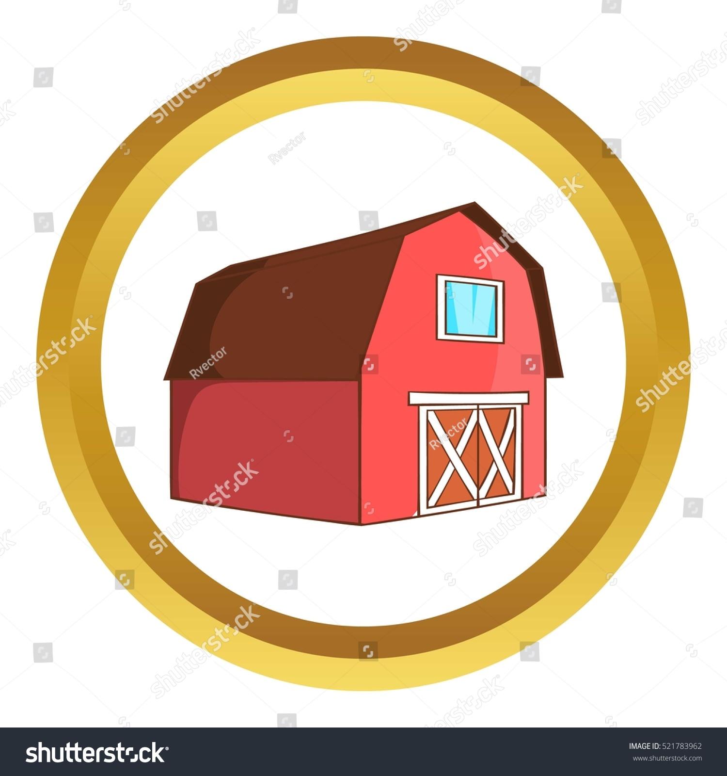 Barn Animals Vector Icon Golden Circle Stock Vector 521783962