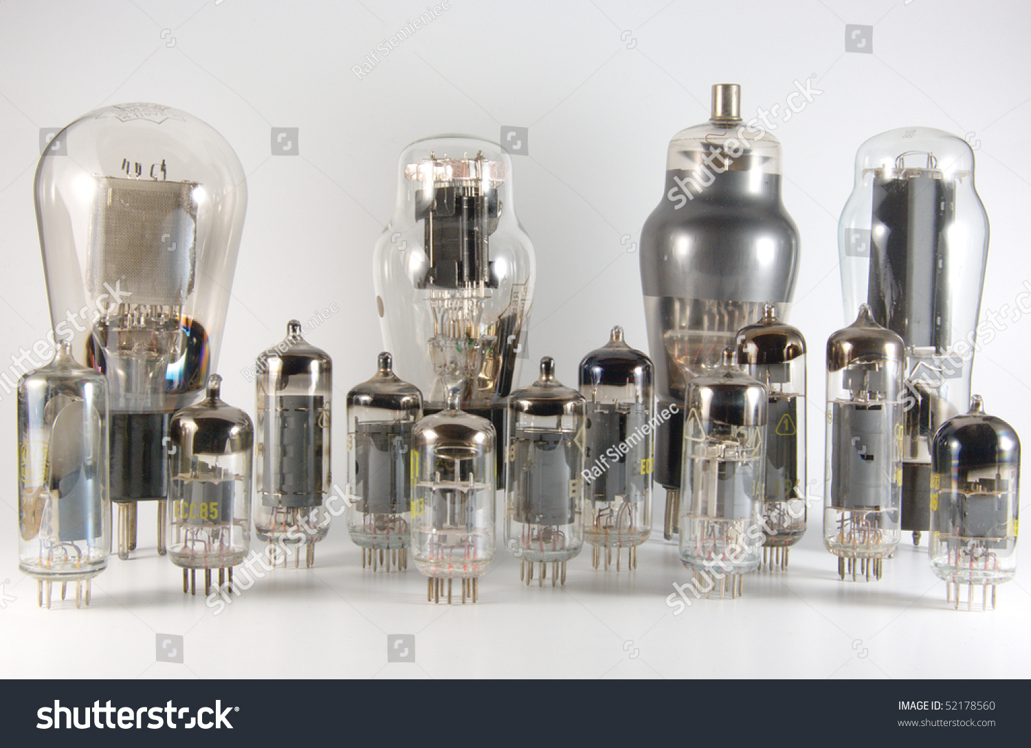 Larger Group Vintage Vacuum Tubes Dating Stock Photo (Royalty Free ...