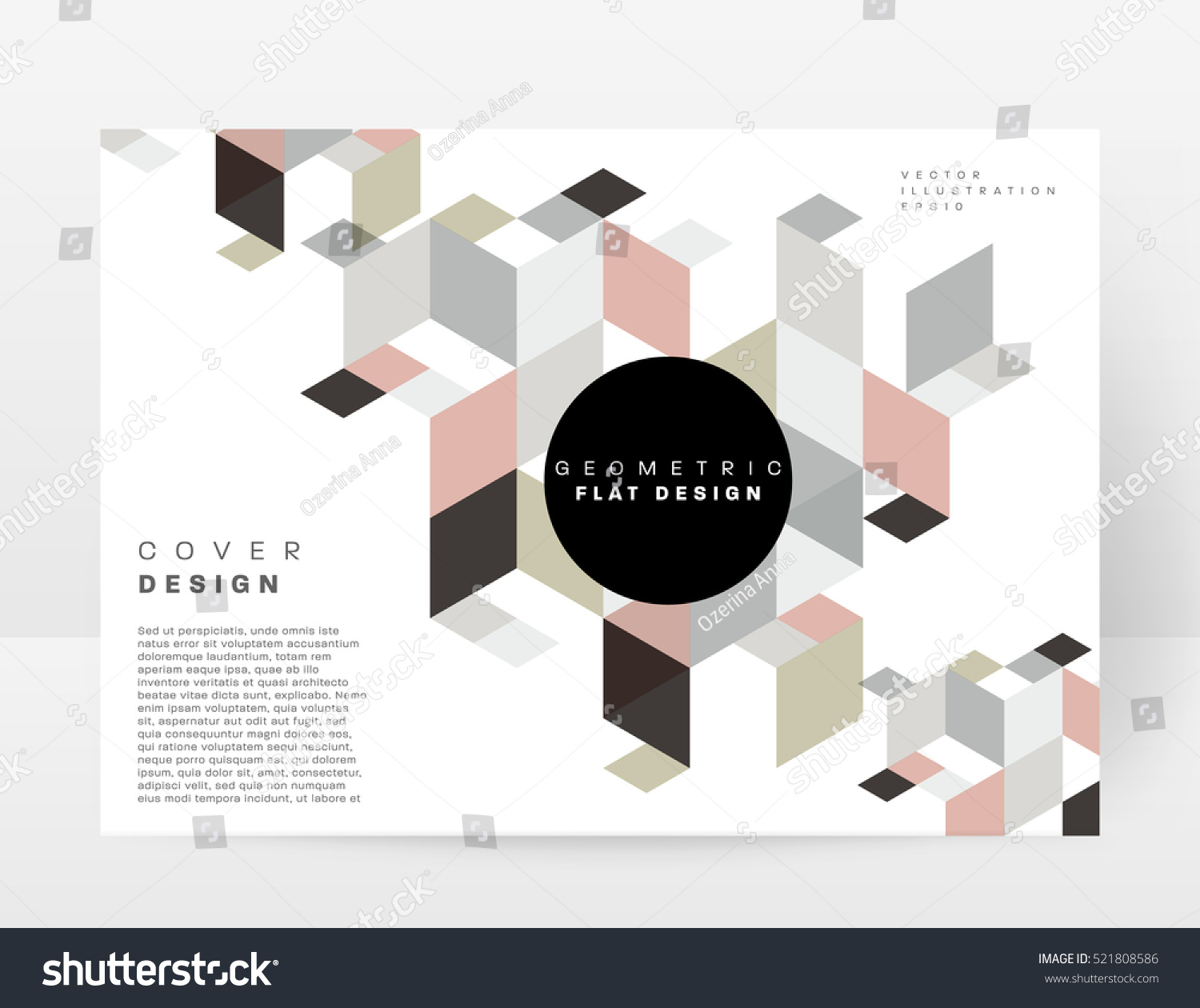 Geometric Background Template Covers Flyers Banners Stock