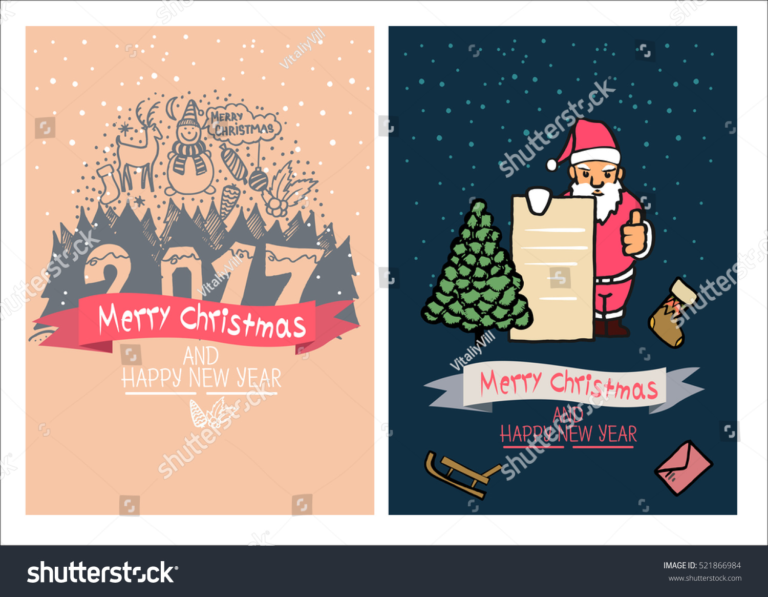 Cute christmas cards family holidays greeting stock vector royalty cute christmas cards family holidays greeting card templatestistic hand drawn design for m4hsunfo