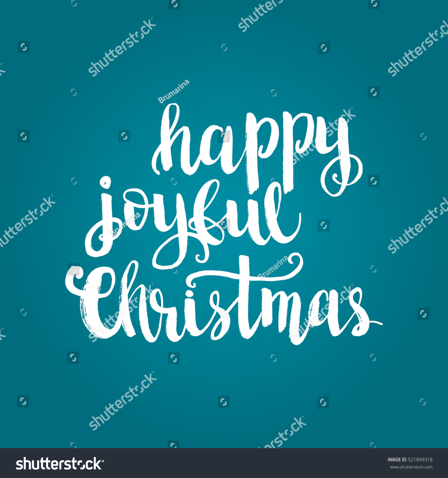 Christmas Card Template Hand Drawn Lettering Stock Vector (Royalty ...