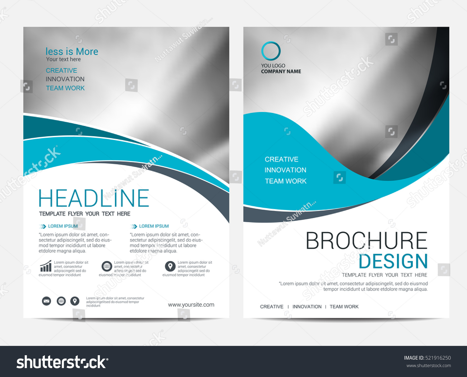 brochure layout template - brochure layout design template annual report stock vector