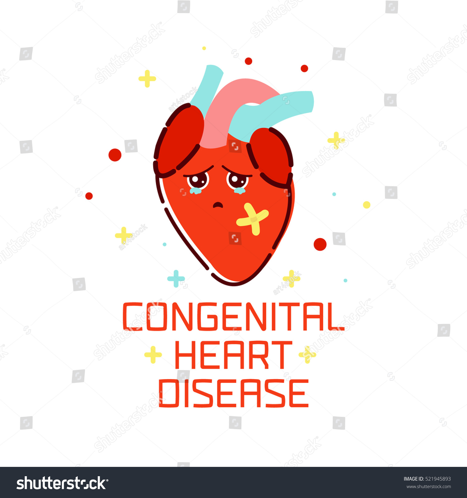Congenital Heart Disease Awareness Poster Sad Stock Vector (2018 ...