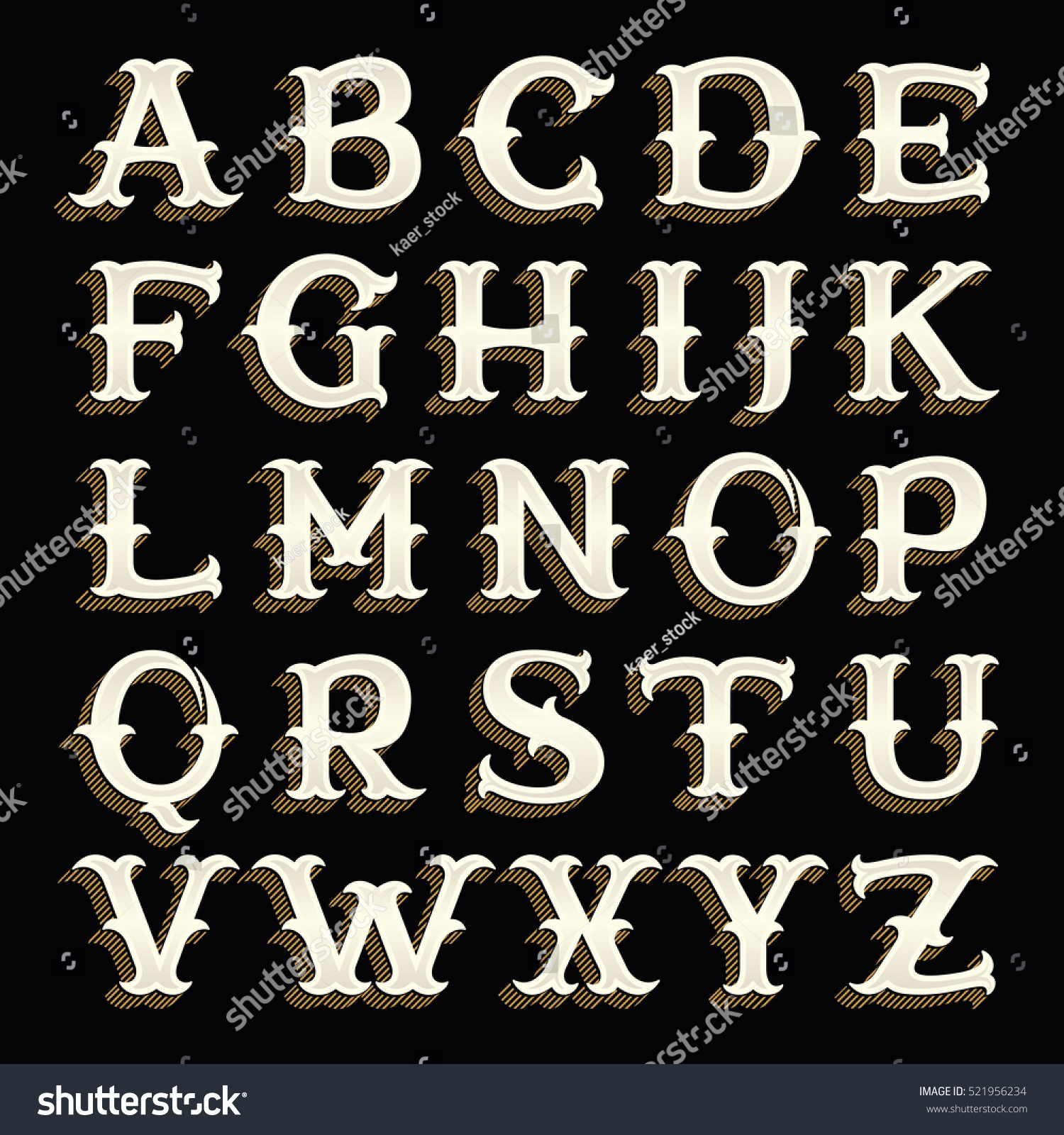 western writing font