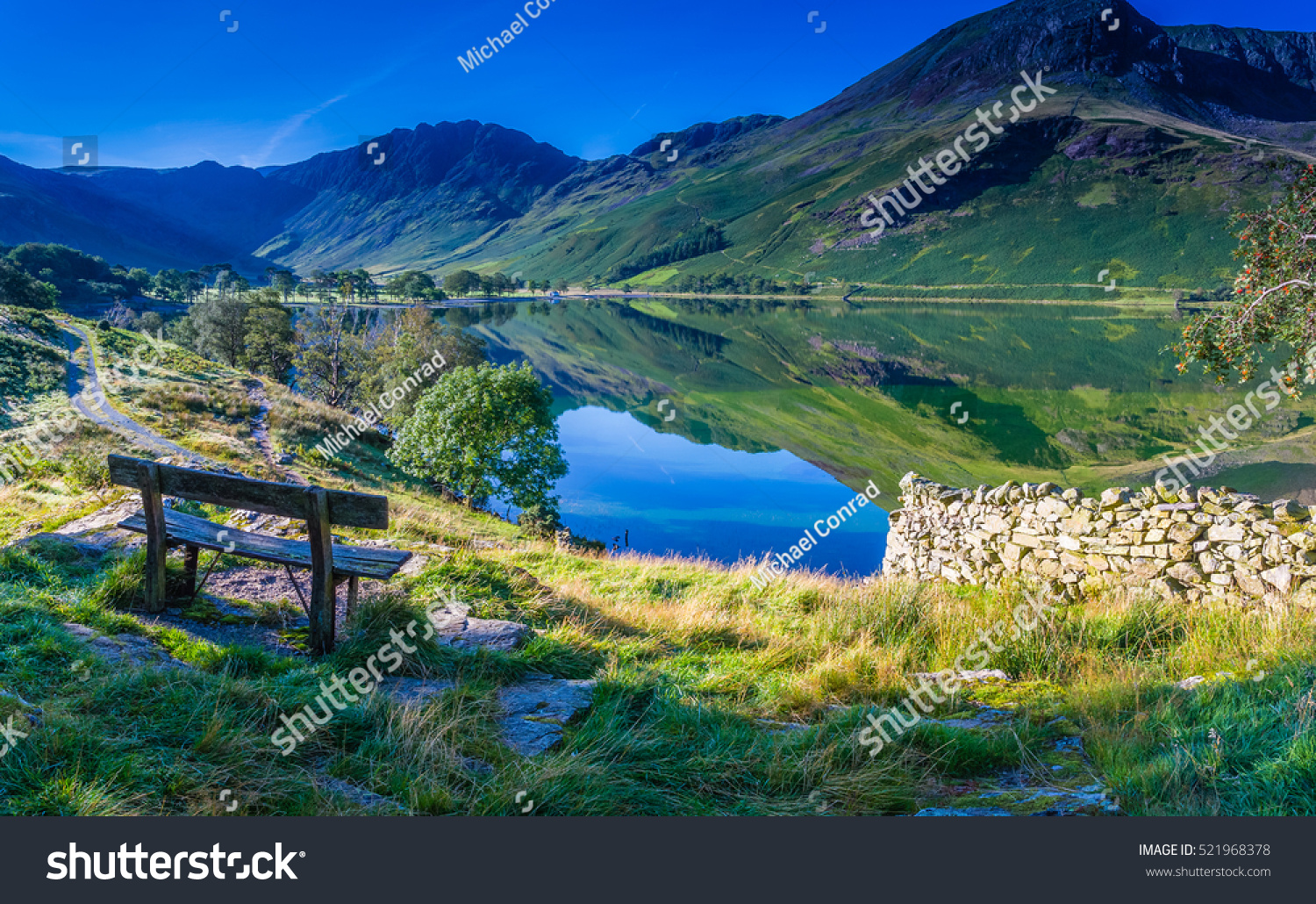 Rest for a moment at Buttermere, The Lake District, Cumbria, England #521968378