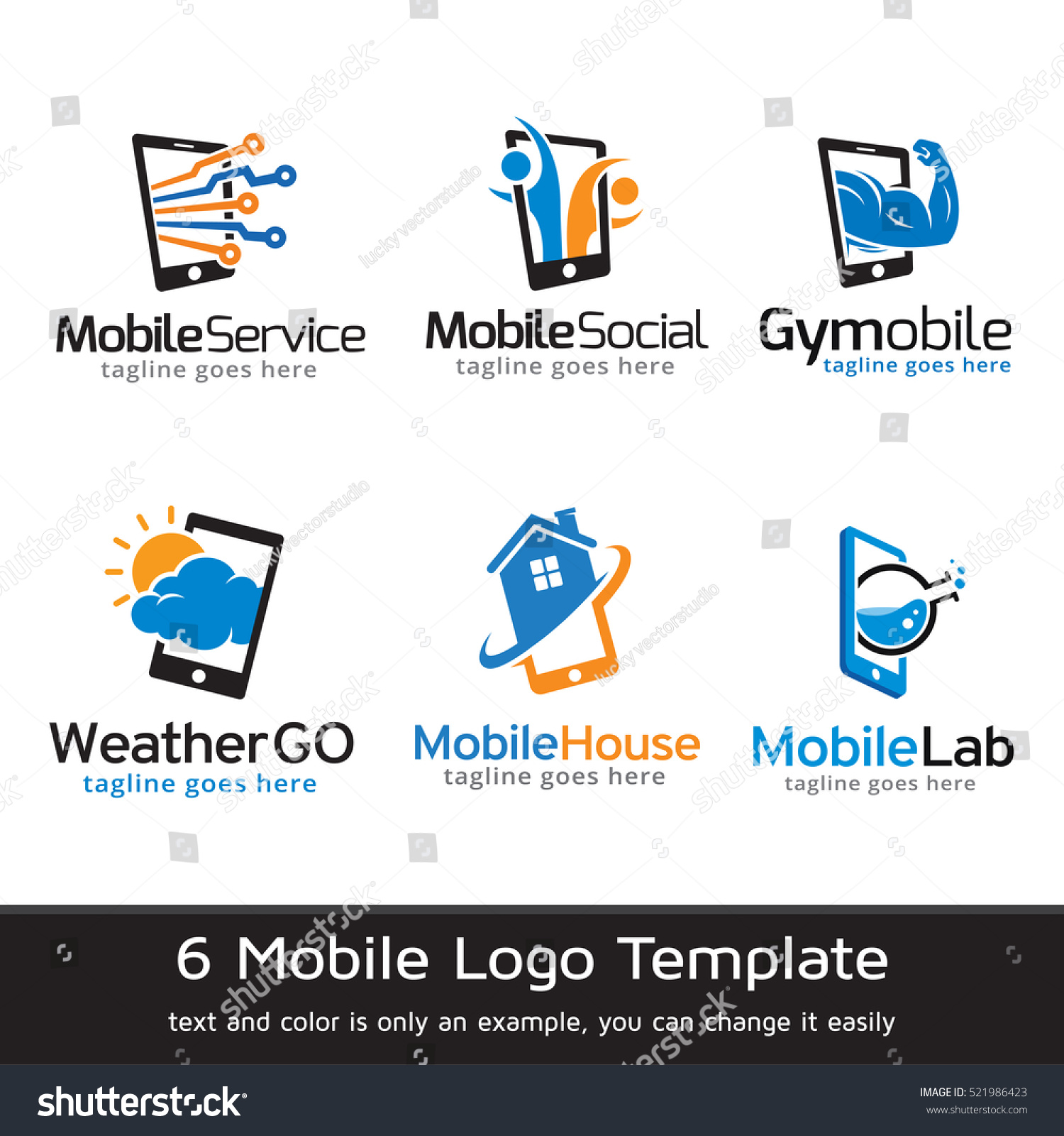 Mobile Phone Logo Template Design Vector Stock Vector ...