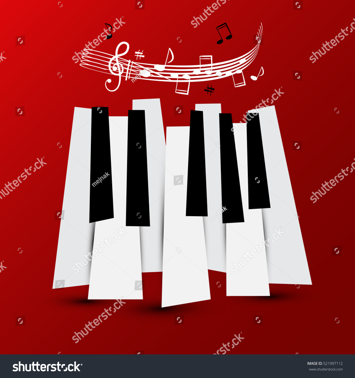 Music symbol vector piano keys staff stock vector 521997112 music symbol vector piano keys with staff and notes keyboard on red background biocorpaavc Image collections