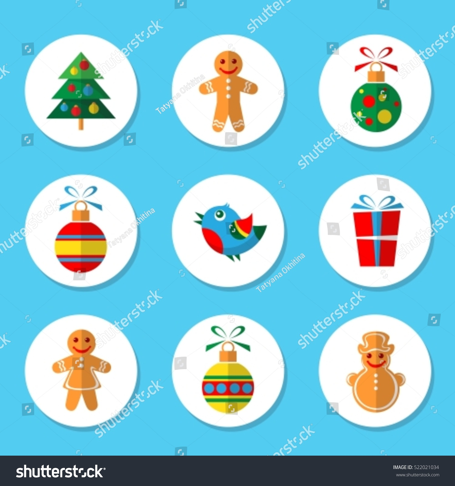 Christmas symbols set isolated on blue stock vector 522021034 christmas symbols set isolated on blue background design elements for greeting cards and flyers biocorpaavc