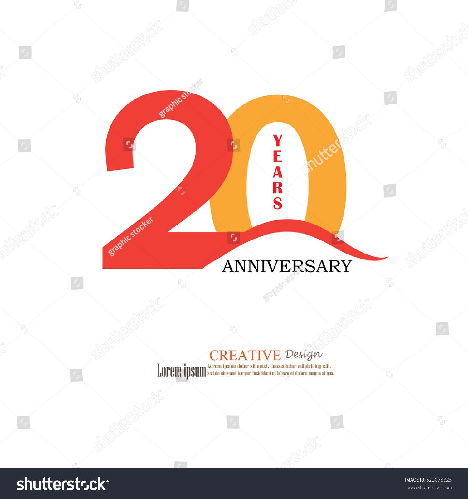 Template Logo 20th Anniversary 20 Years Stock Vector Royalty Free